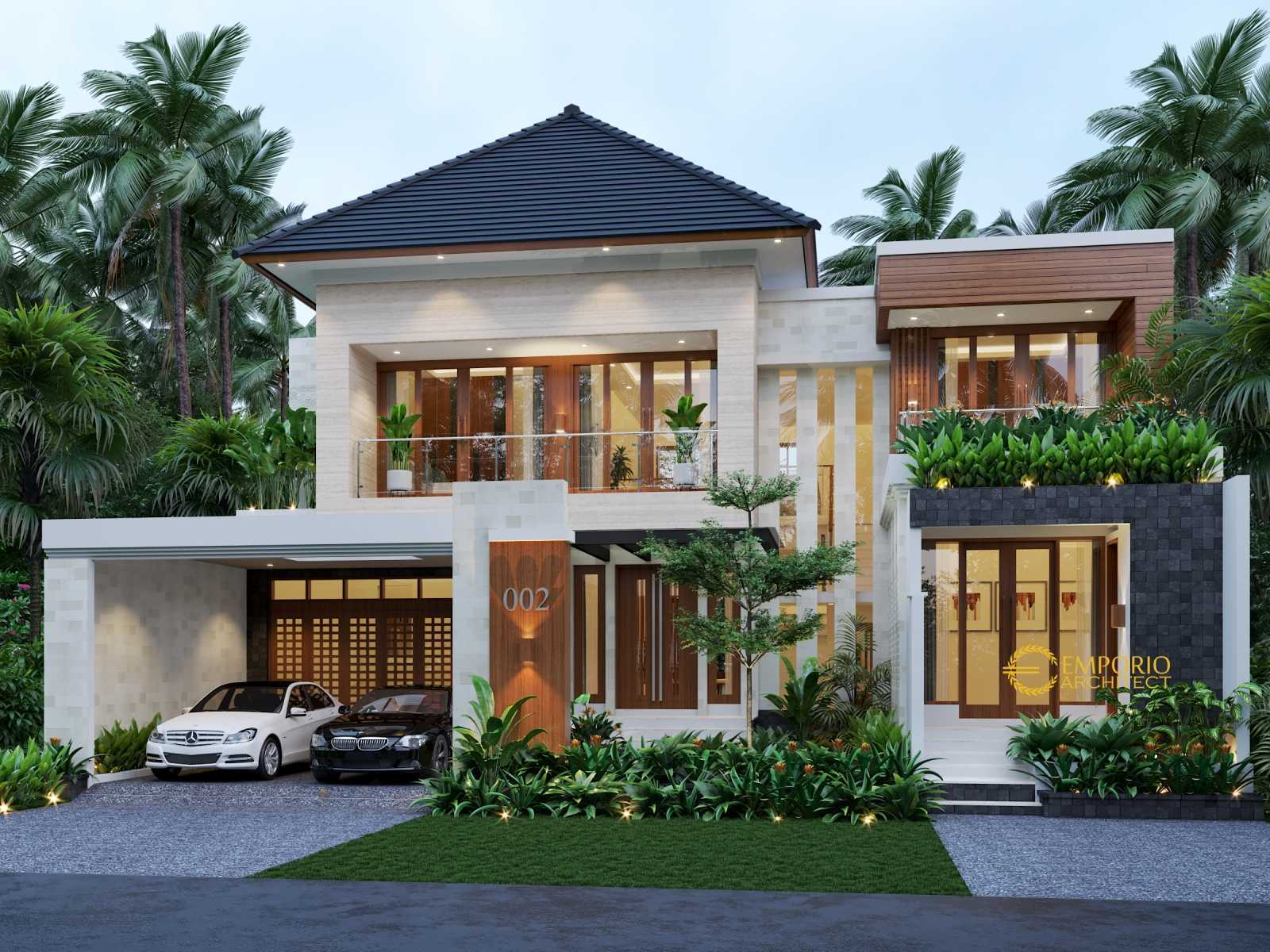 Photo Emporio Architect Desain Rumah Modern Tropis 591 Ii Madiun Jawa Timur Desain Rumah Modern Tropis 591 Ii Madiun Jawa Timur 2 Desain Arsitek Oleh Emporio Architect Arsitag