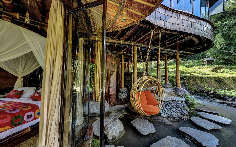Agung Budi Raharsa   Architecture & Engineering Riverbend Bamboo House - Bali Bali, Indonesia Bali, Indonesia Courtyard Tropical  88704