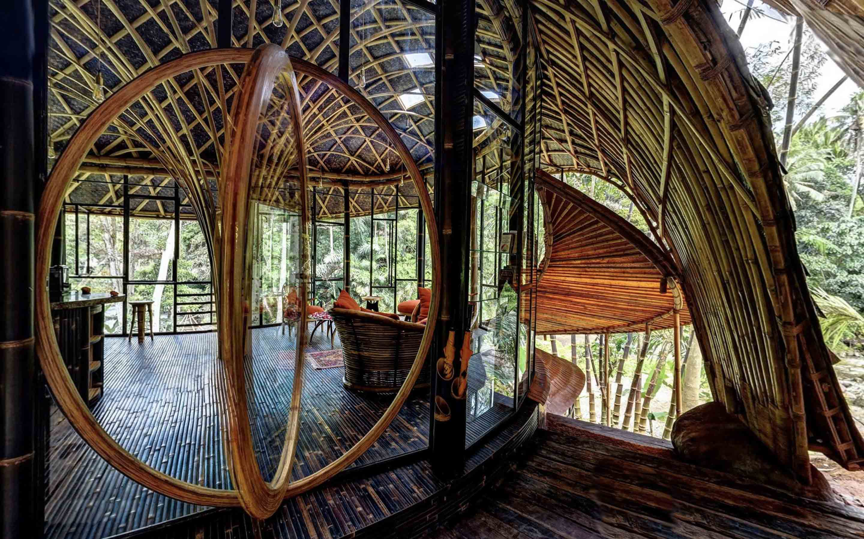 Agung Budi Raharsa   Architecture & Engineering Riverbend Bamboo House - Bali Bali, Indonesia Bali, Indonesia Interior View Tropical  88708