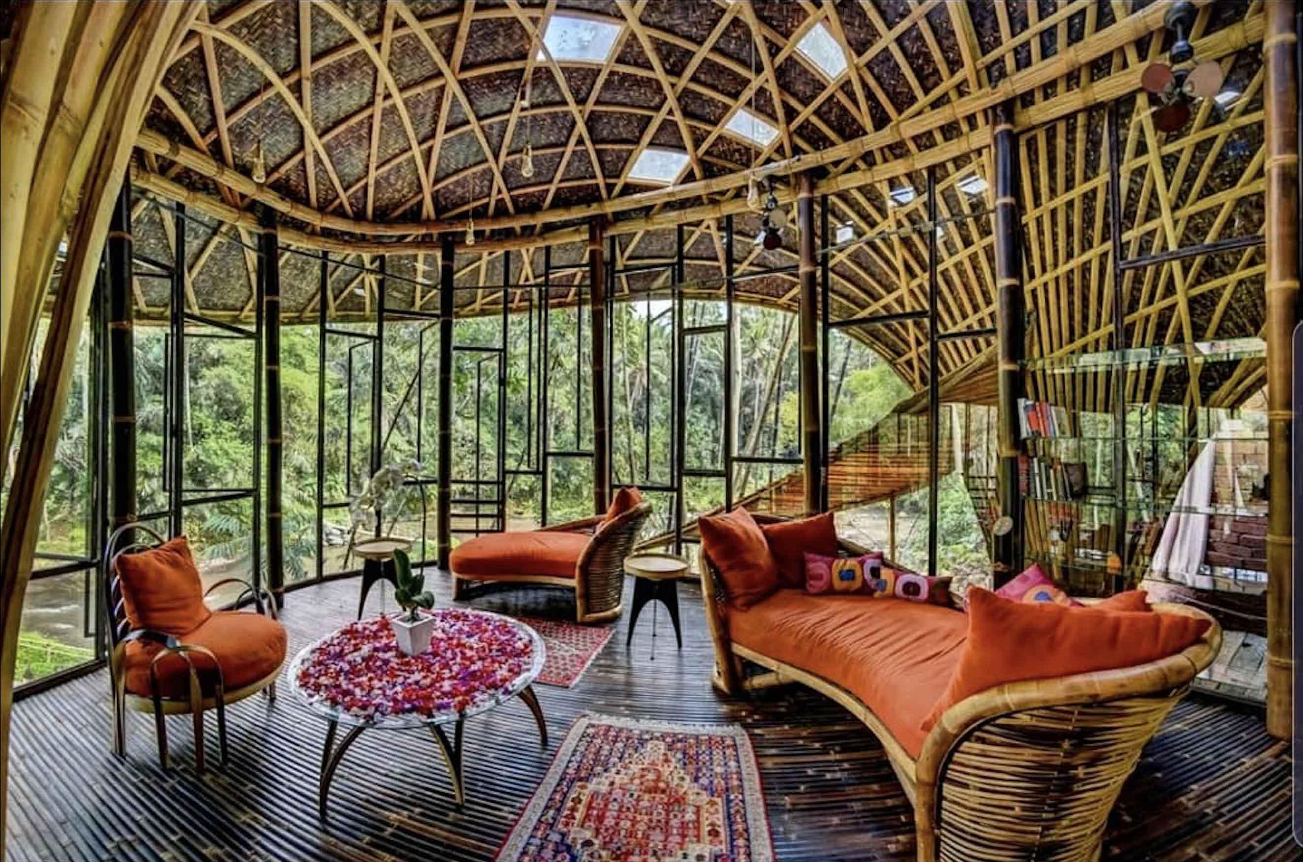 Agung Budi Raharsa | Architecture & Engineering Riverbend Bamboo House - Bali Bali, Indonesia Bali, Indonesia Entrance Tropical  88709