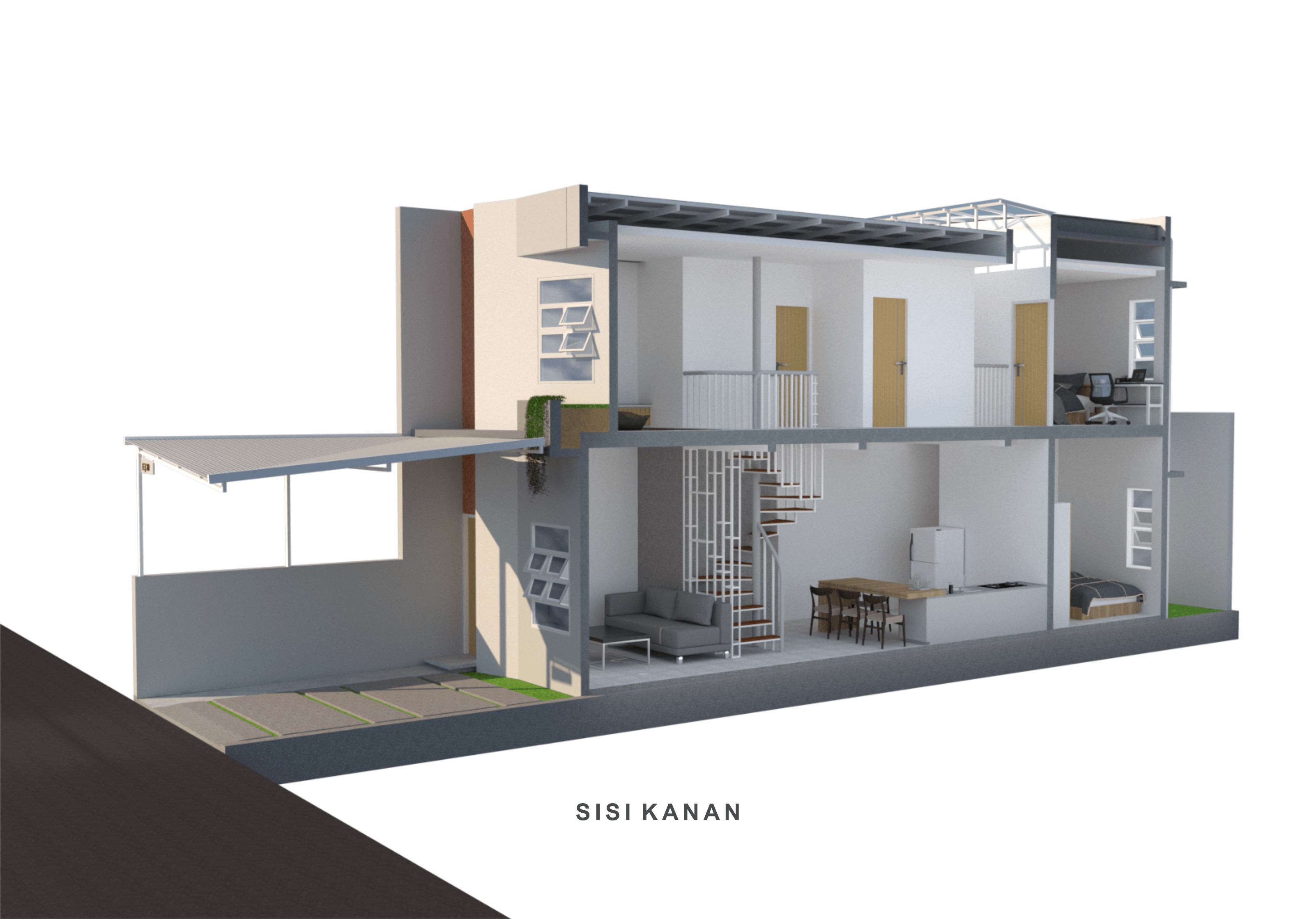Inawa Arsitek Compact House Makassar, Kota Makassar, Sulawesi Selatan, Indonesia Makassar, Kota Makassar, Sulawesi Selatan, Indonesia Inawa-Arsitek-Compact-House   112046