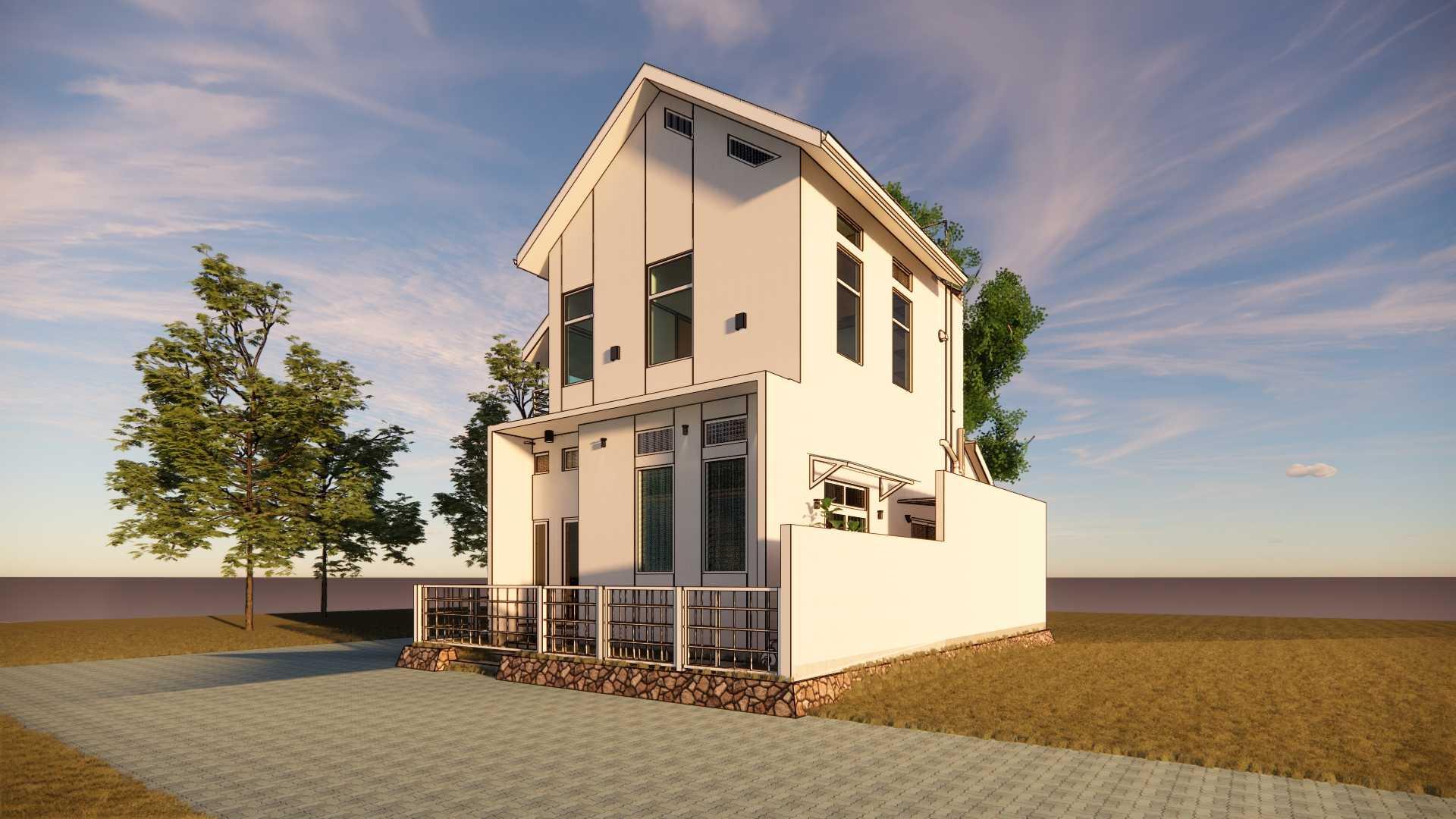 Gfs Architect T&d House Semarang, Jawa Tengah, Indonesia Semarang, Jawa Tengah, Indonesia T&d 3D Eksterior Depan Pagi Minimalist <P>3D Eksterior Pada Pagi Hari</p> 108740