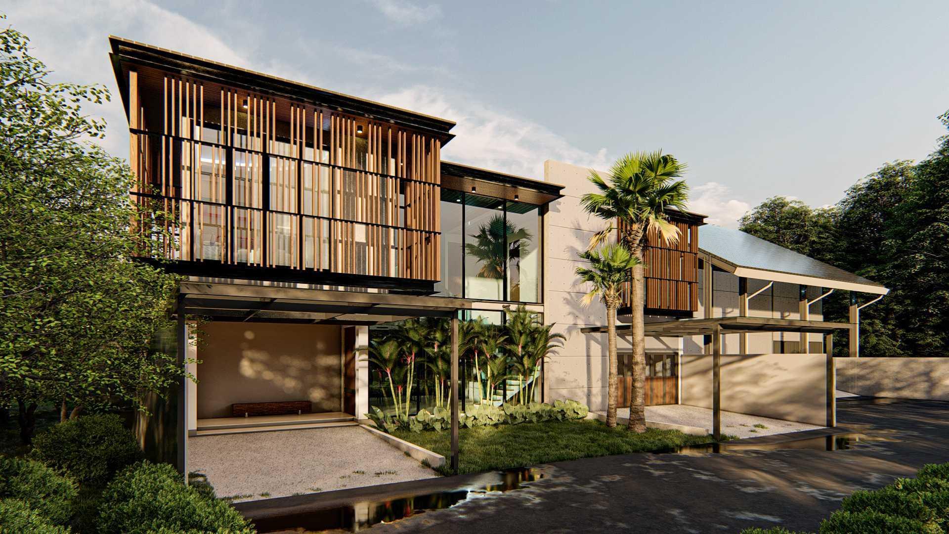 Ruang Rupa Studio Sr House Soreang, Kec. Soreang, Bandung, Jawa Barat, Indonesia Soreang, Kec. Soreang, Bandung, Jawa Barat, Indonesia Sr House Facade #2 Modern  113789