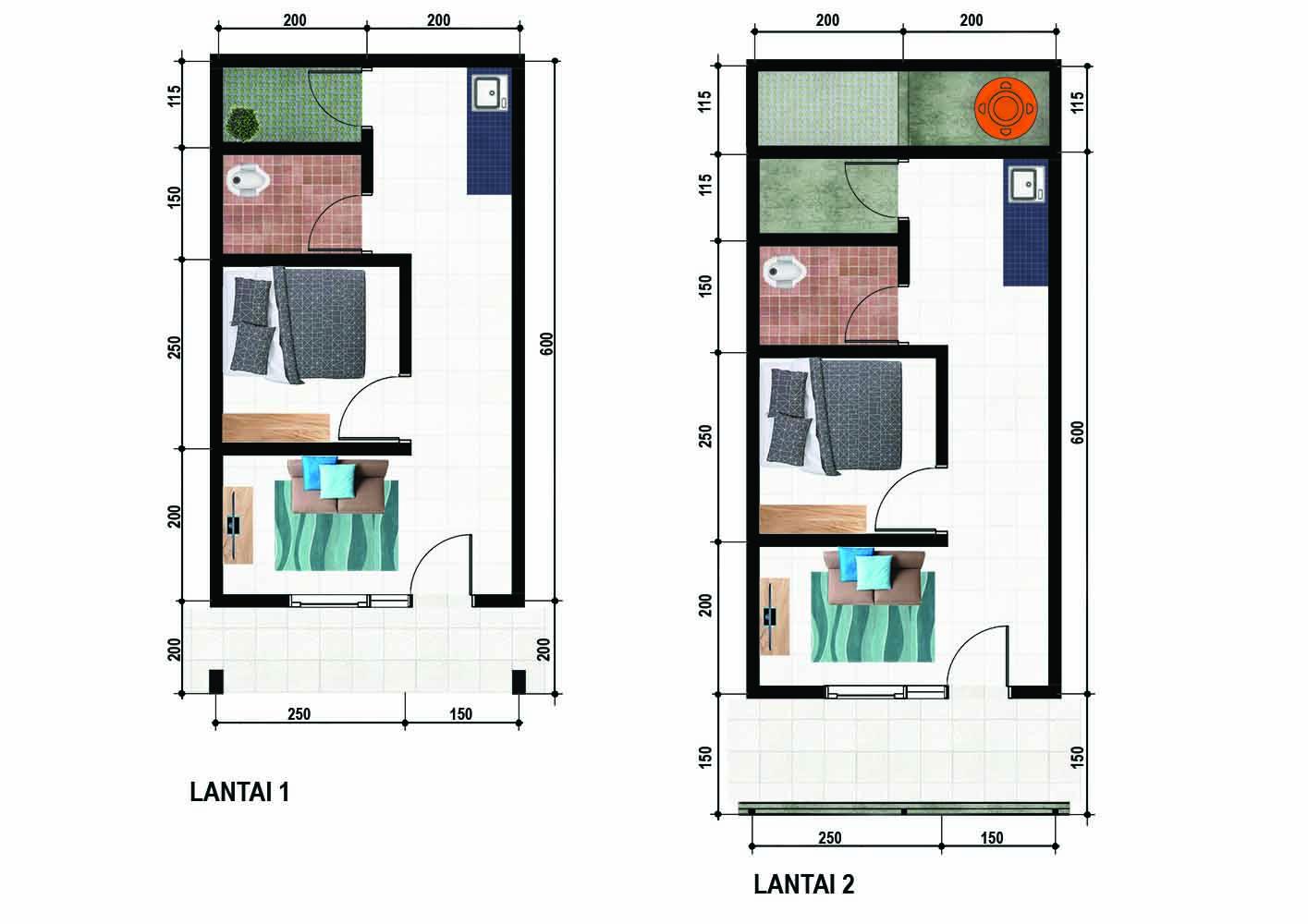 50 Desain Rumah Kontrakan 3x6 Homsweetimpian