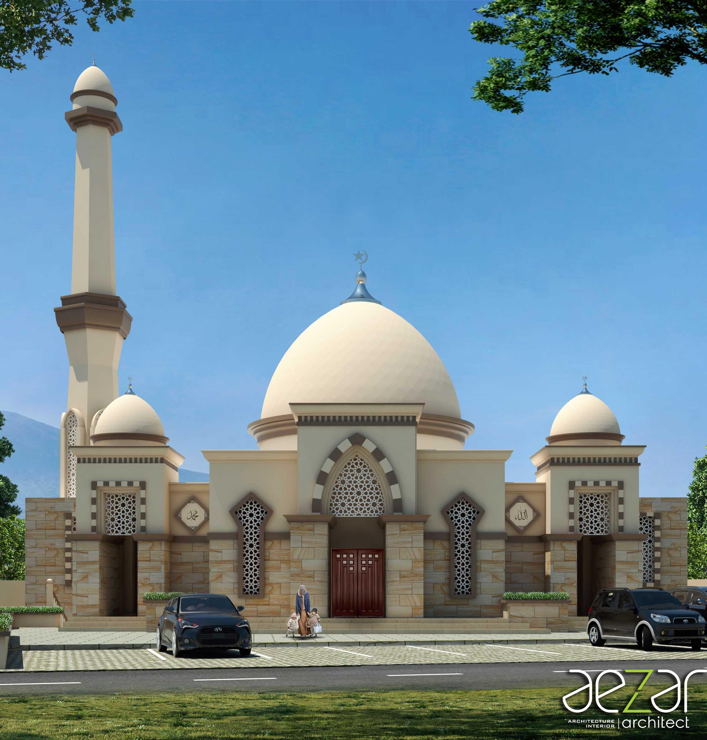 Aezar Architect Baitussalam Mosque Kabupaten Sragen, Jawa Tengah, Indonesia Kabupaten Sragen, Jawa Tengah, Indonesia Front View Asian  54435