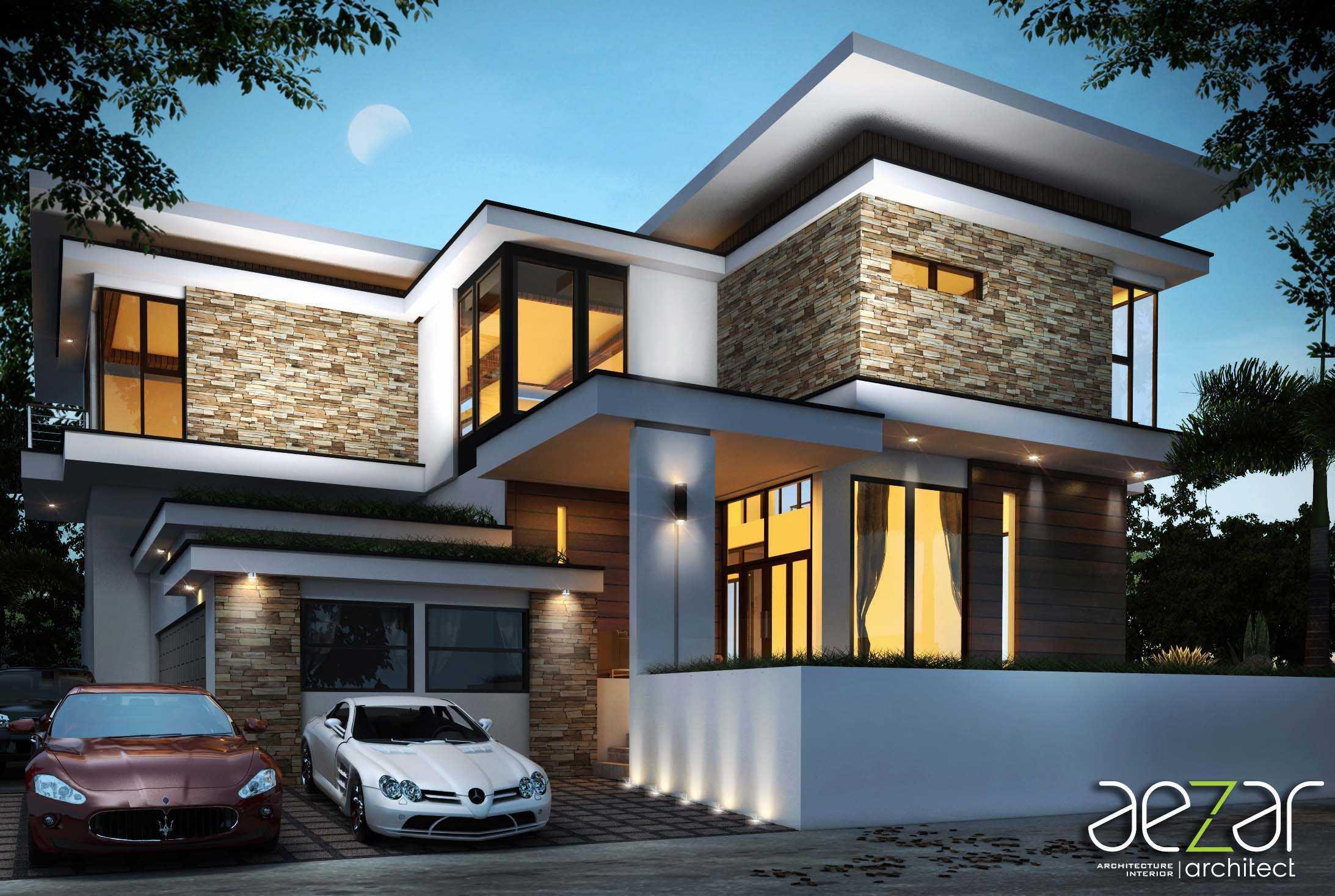 Aezar Architect Zk House Medan, Kota Medan, Sumatera Utara, Indonesia Medan, Kota Medan, Sumatera Utara, Indonesia Exterior View Contemporary  54457