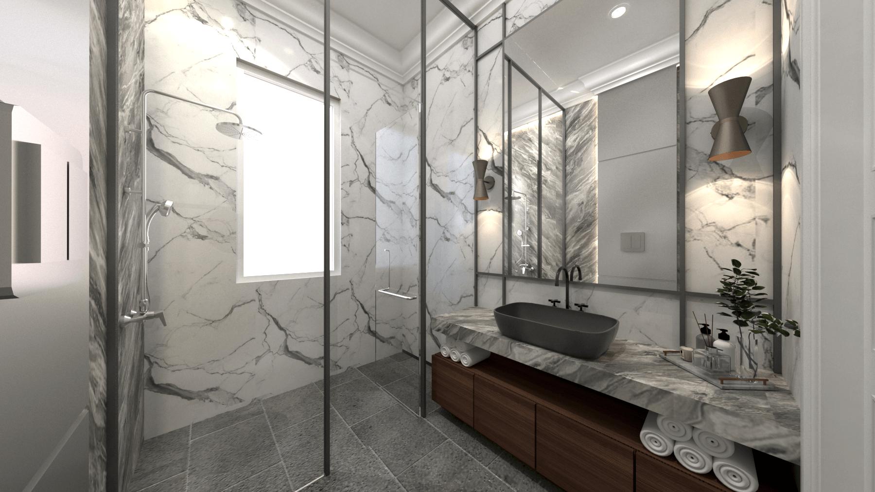 Mimic Concept Mr. Am - 2Nd Floor Jl. Pantai Indah Kapuk, Rt.6/rw.2, Kamal Muara, Kec. Penjaringan, Kota Jkt Utara, Daerah Khusus Ibukota Jakarta, Indonesia Jl. Pantai Indah Kapuk, Rt.6/rw.2, Kamal Muara, Kec. Penjaringan, Kota Jkt Utara, Daerah Khusus Ibukota Jakarta, Indonesia Bathroom Kid View 1  <P>Theme : Luxury Modern</p> <P>Material : Marble + Hpl&nbsp; + Ducco&nbsp;</p> 92600