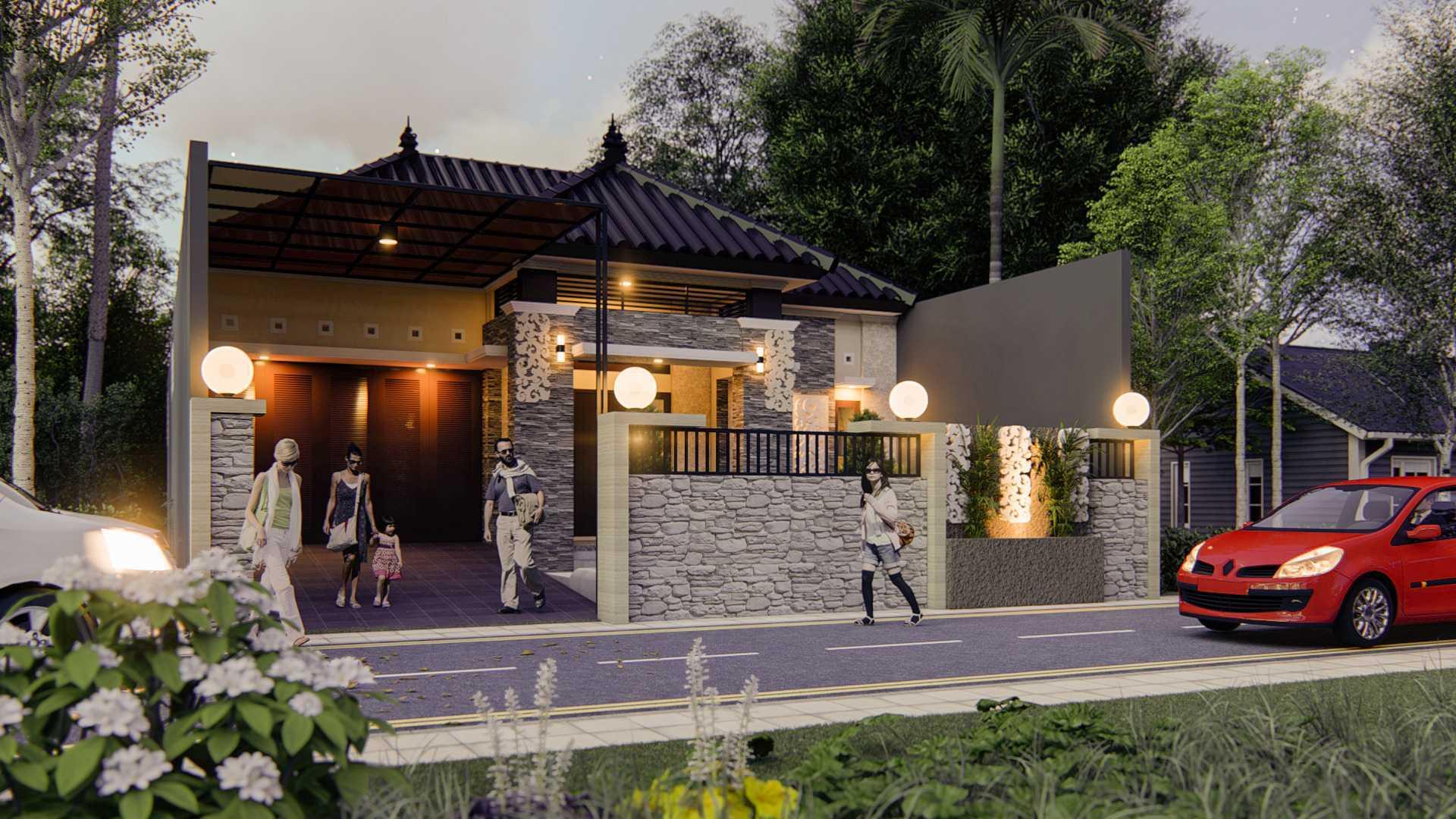 Nggambar Omah | Design And Build The Nusapenida House Blitar, Jawa Timur, Indonesia Blitar, Jawa Timur, Indonesia Tampak Depan Traditional <P>Fasad Ekterior Dipilih Semi Tradisional Memadukan Unsur Modern Dan Natural Sehingga Kesan Elegan Menjadi Kuat</p> 75658