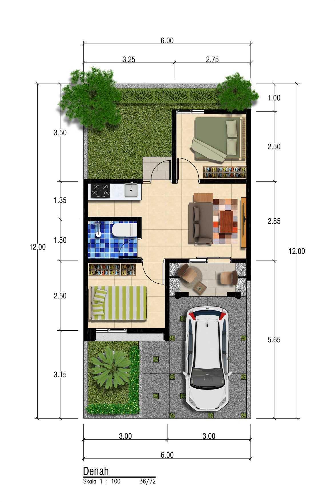 Satuvista Architect D'ahsana Green Residence  Bogor, Jawa Barat, Indonesia Bogor, Jawa Barat, Indonesia Satuvista-Architect-Dahsana-Green-Residence- Modern Denah T 36 59479