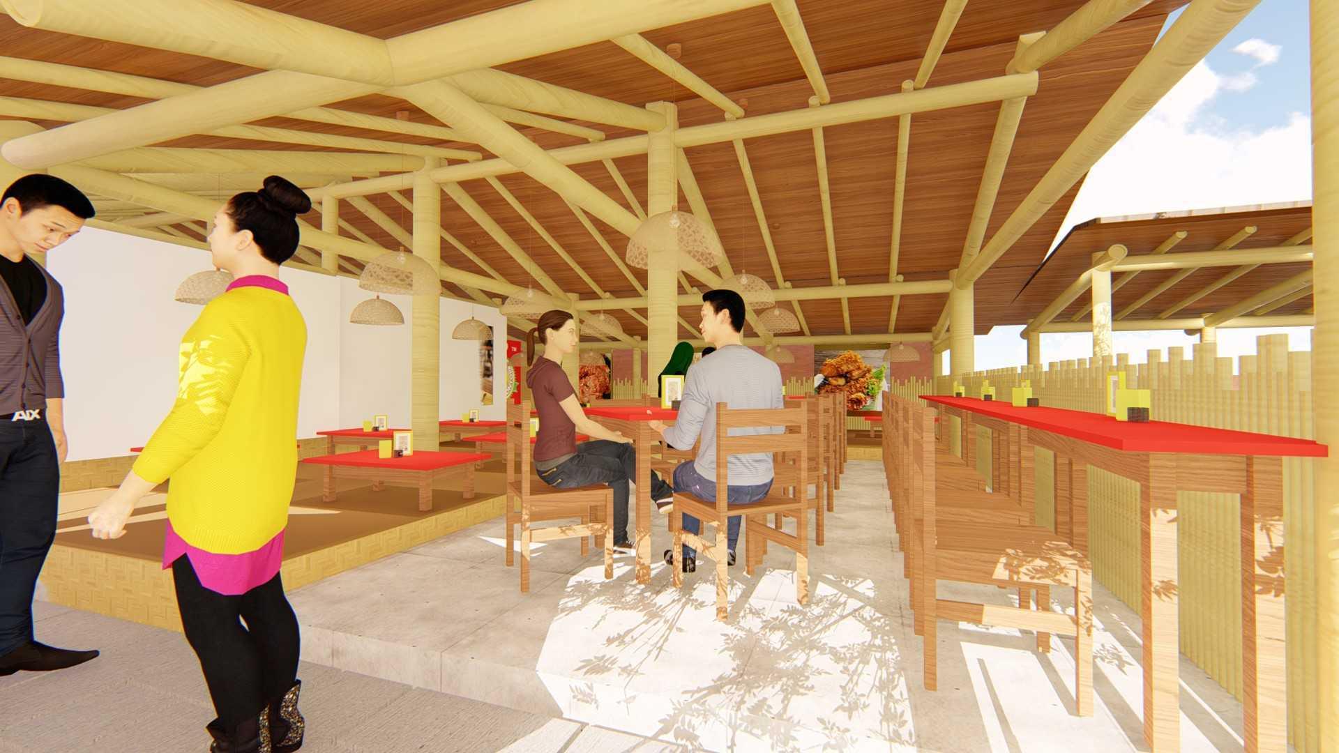 """Suba-Arch Desain Restoran Bebek Jontor Style Tropical - Pak Dindin Solahudin Selabintana, Sukabumi Jalan Selabintana, Sundajaya Girang, Kec. Sukabumi, Sukabumi, Jawa Barat, Indonesia Jalan Selabintana, Sundajaya Girang, Kec. Sukabumi, Sukabumi, Jawa Barat, Indonesia Suba-Arch-Desain-Restoran-Bebek-Jontor-Style-Tropical-Pak-Dindin-Solahudin-Selabintana-Sukabumi Tropical <P Class=""""msonormal"""">Tempat Makan Semi Out Door Berukuran 8,2 M X 8,4 M Dengan Konsep Tropical.&nbsp;kombinasi Warna Menggunakan Coklat Muda, Coklat Tua, Merah Dengan Krem Yang Dominan. Material Dinding Menggunakan Bambu Berwarna Krem Yang Membuat Tempat Makan Menjadi Sejuk, Meja Terbuat Dari Material Kayu Dicat Merah Menyala, Dan<Span Style=""""mso-Spacerun: Yes;"""">&nbsp; </span>Lantai Duduk Terbuat Dari Material Kayu Dicat Coklat Tua.</p> 66470"""