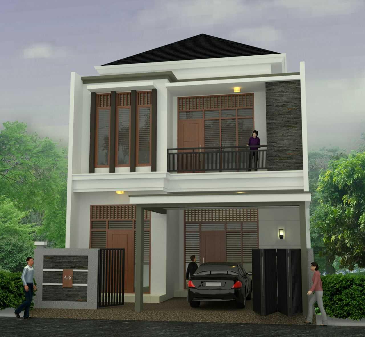Ady-Studio Desain Rumah 2 Lantai Jl. Nangka Raya, Pamulang Tim., Pamulang, Kota Tangerang Selatan, Banten 15417, Indonesia  Ady-Studio-Desain-Rumah-2-Lantai  55768