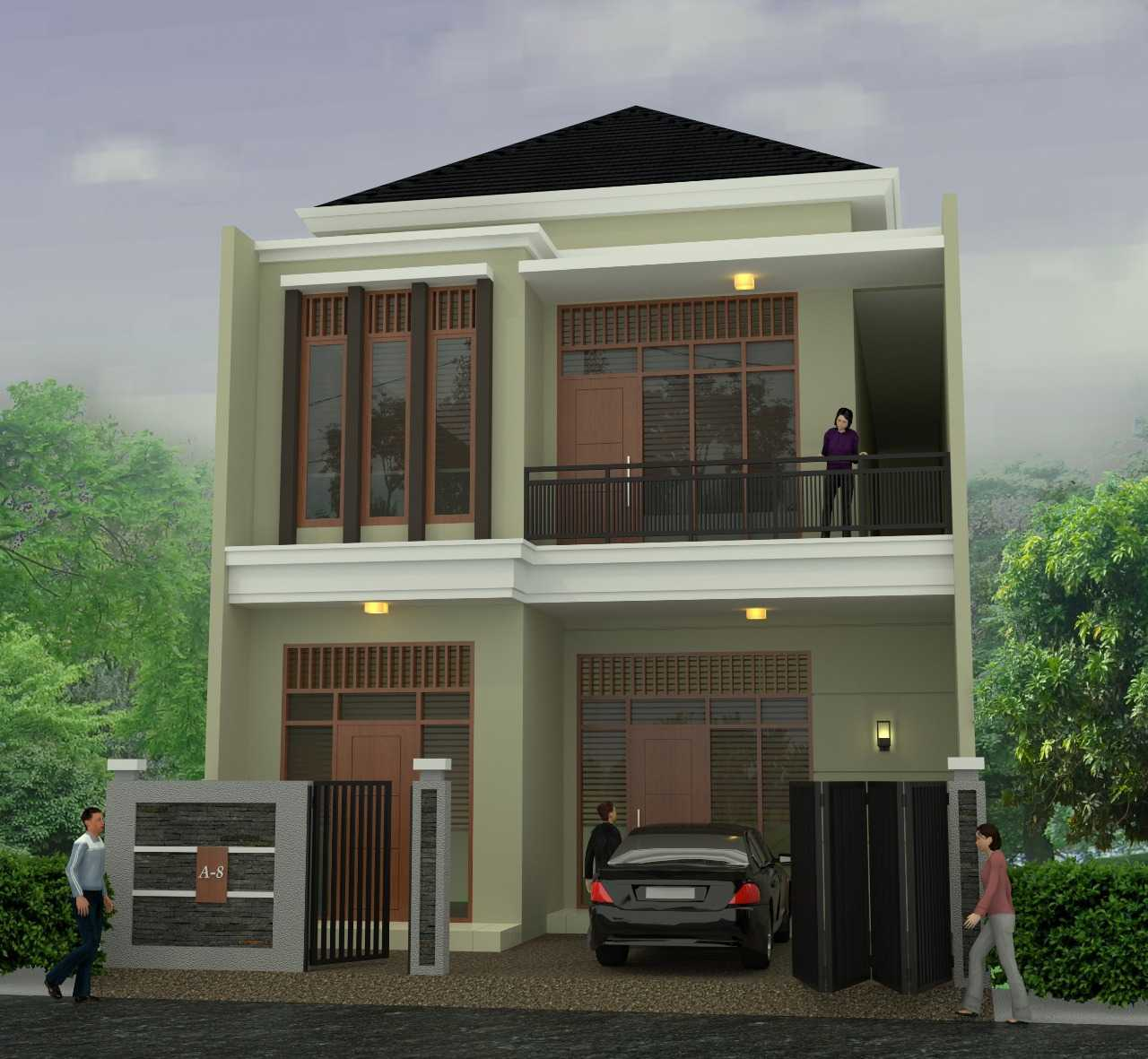 Ady-Studio Desain Rumah 2 Lantai Jl. Nangka Raya, Pamulang Tim., Pamulang, Kota Tangerang Selatan, Banten 15417, Indonesia  Ady-Studio-Desain-Rumah-2-Lantai  55769