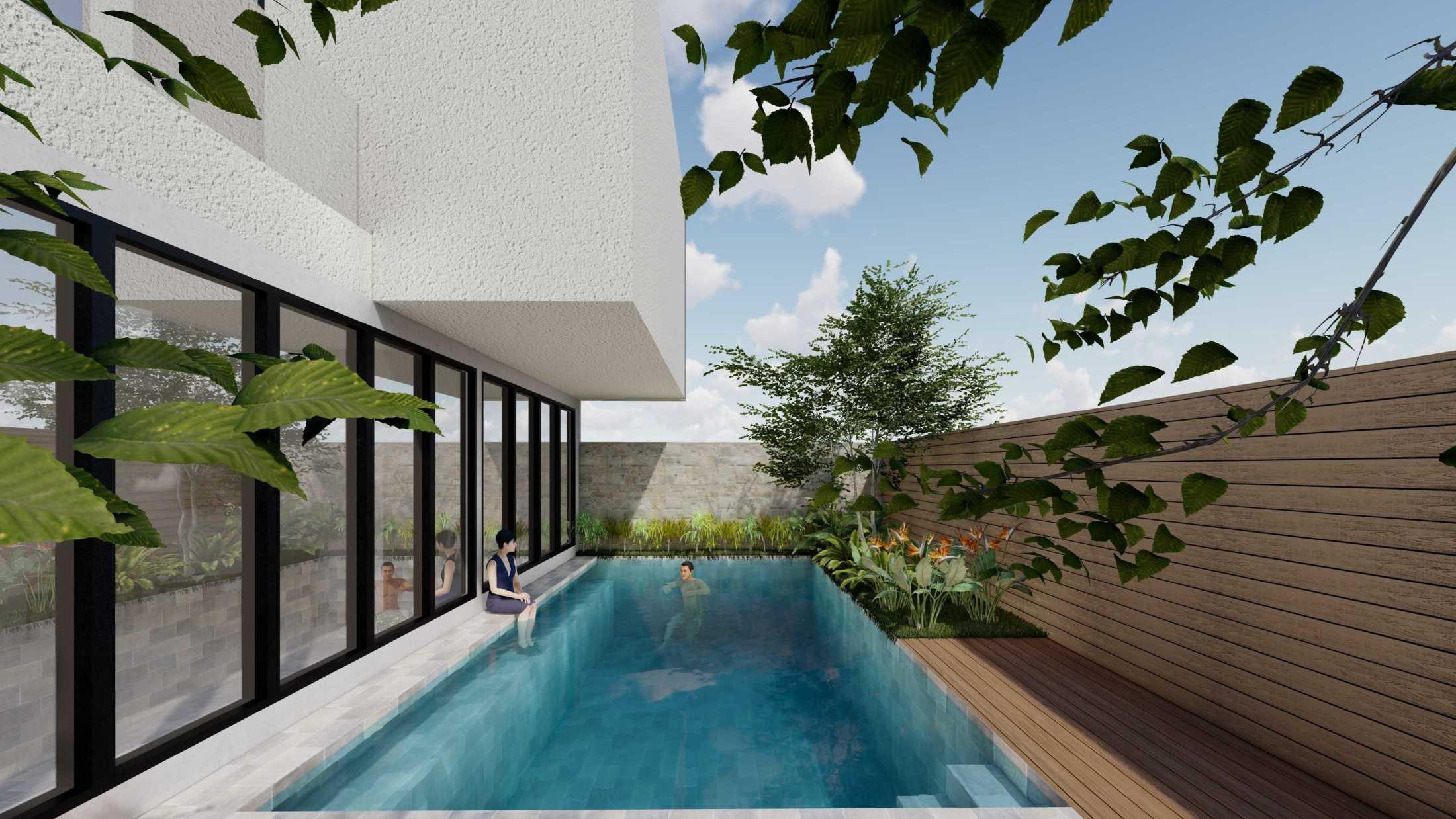 Foto inspirasi ide desain kolam asian Raaj-gill-arsitek-seminyak-villa oleh Raaj Gill Arsitek di Arsitag