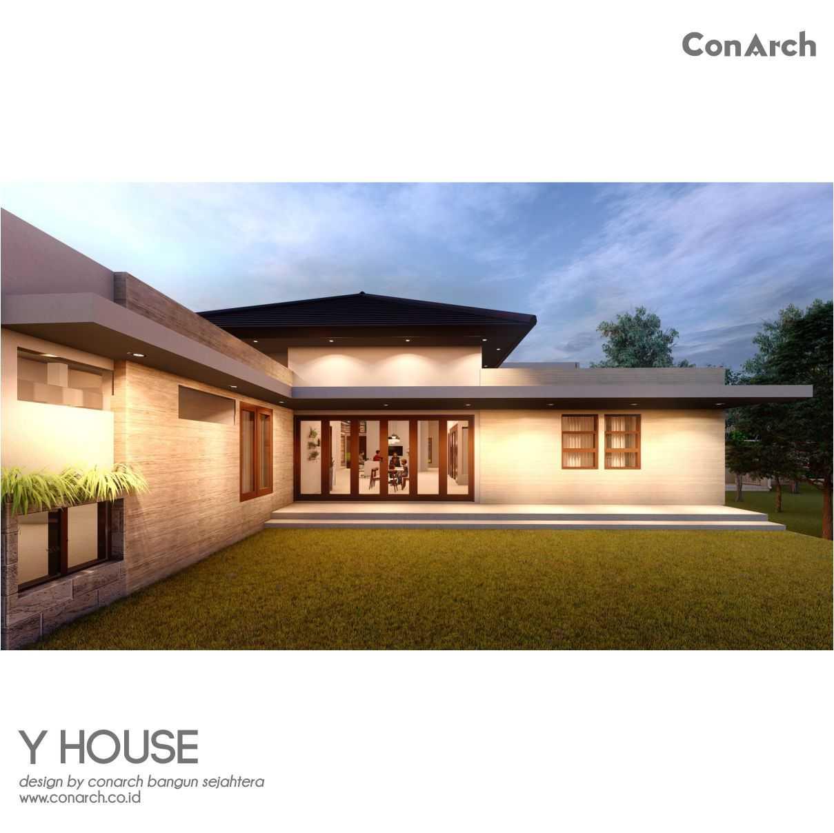 Conarch Studio Mr. Yohan House Klaten, Kabupaten Klaten, Jawa Tengah, Indonesia Klaten, Kabupaten Klaten, Jawa Tengah, Indonesia Conarch-Bangun-Sejahtera-Mr-Yohan-House  82530