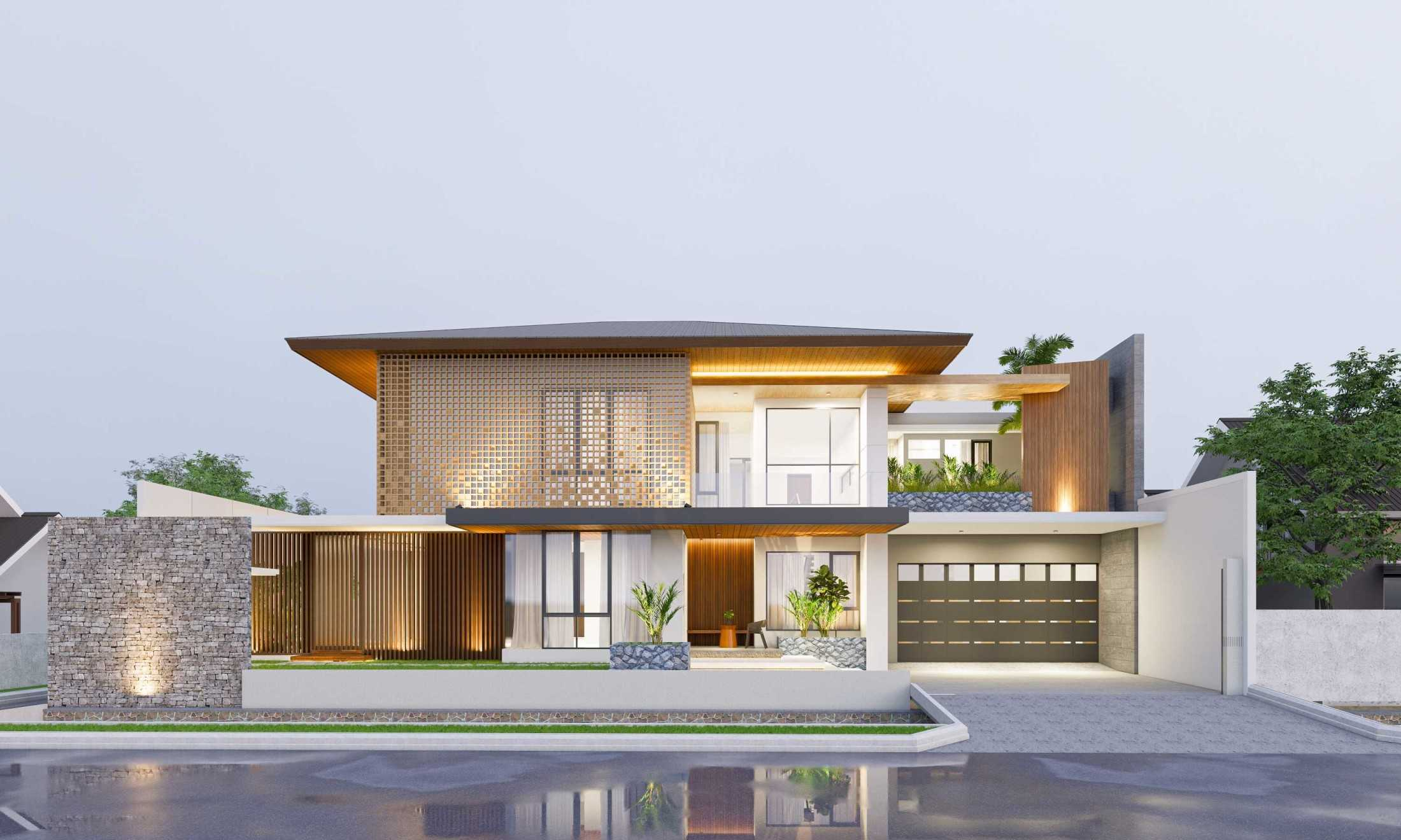 Conarch Studio Tropical Modern W House Surakarta, Kota Surakarta, Jawa Tengah, Indonesia Surakarta, Kota Surakarta, Jawa Tengah, Indonesia Facade  135164