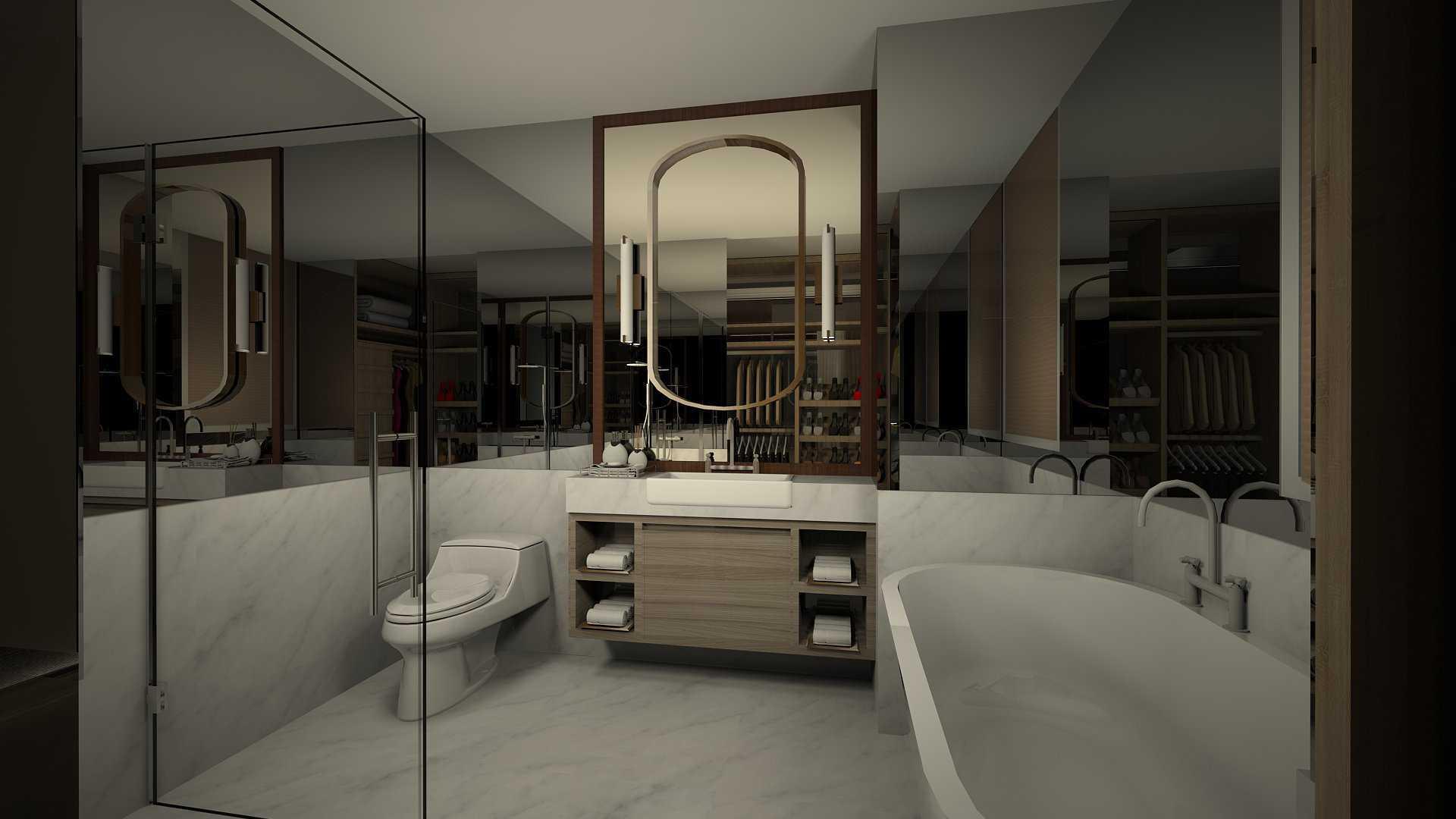 Foto inspirasi ide desain kamar mandi minimalis Tms-creative-st-moritz-the-new-presidential-suite oleh TMS Creative di Arsitag