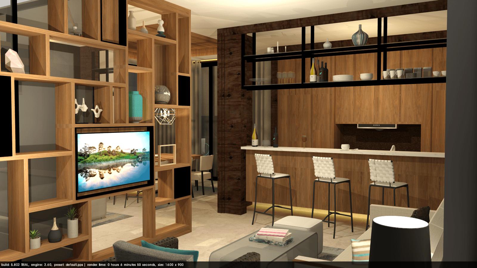 Foto inspirasi ide desain ruang keluarga tropis Tms-creative-surabaya-residence oleh TMS Creative di Arsitag