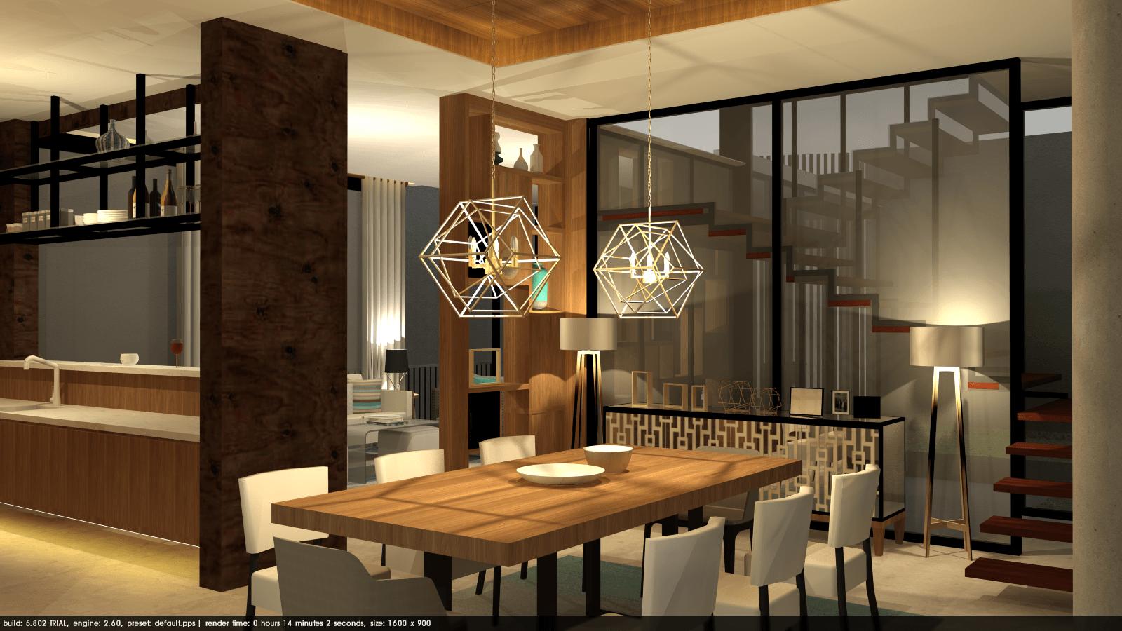 Foto inspirasi ide desain ruang makan tropis Tms-creative-surabaya-residence oleh TMS Creative di Arsitag