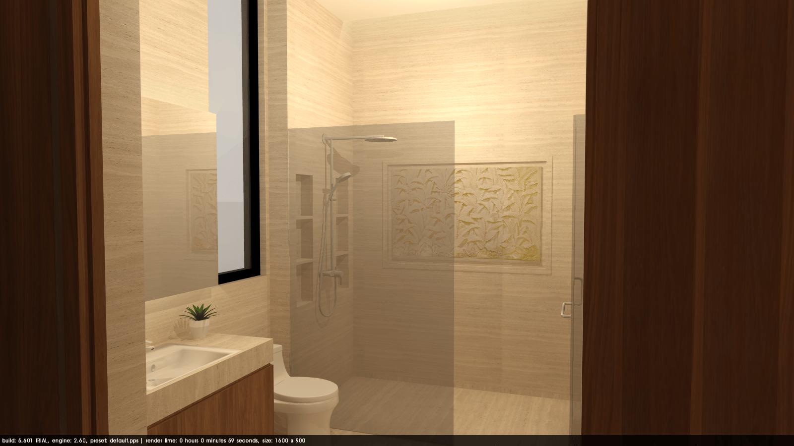 Foto inspirasi ide desain kamar mandi tropis Tms-creative-surabaya-residence oleh TMS Creative di Arsitag