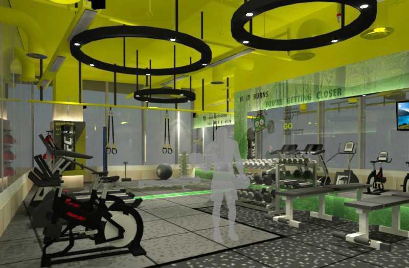Foto inspirasi ide desain gym minimalis Tms-creative-tokopedia-gym oleh TMS Creative di Arsitag