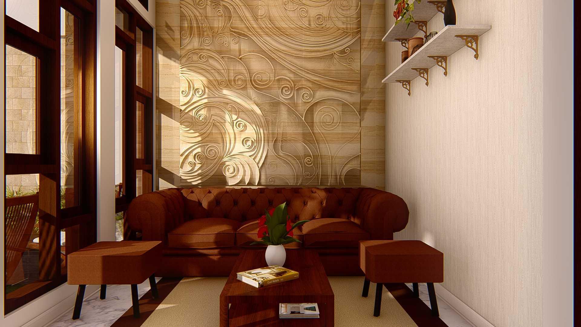 Artha Architect Rumah Tropis Di Lahan Memanjang Kabupaten Brebes, Jawa Tengah, Indonesia Kabupaten Brebes, Jawa Tengah, Indonesia Teras Depan Modern 102638