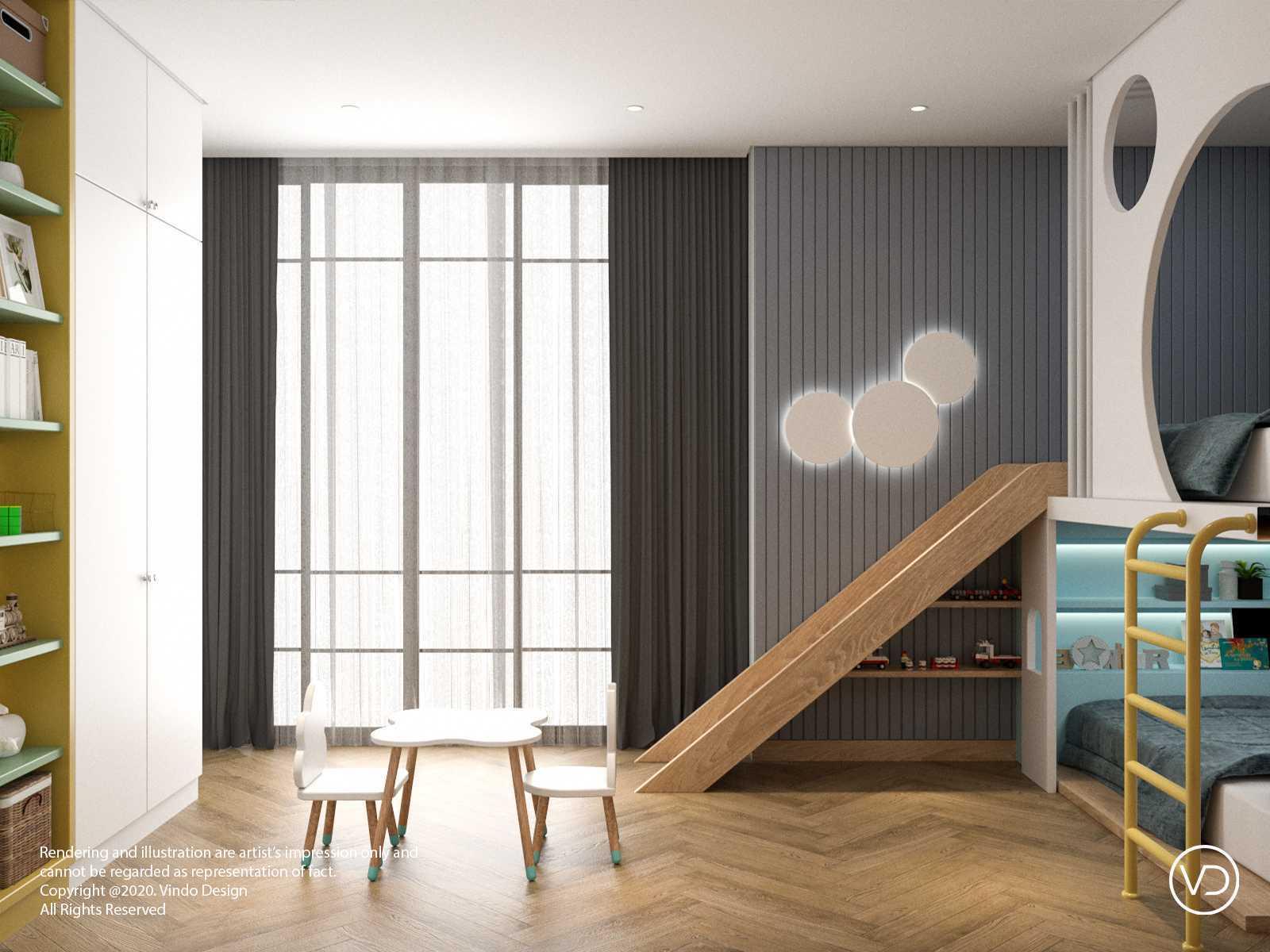Foto inspirasi ide desain kamar tidur anak minimalis Fun kids bedroom oleh Vindo Design di Arsitag