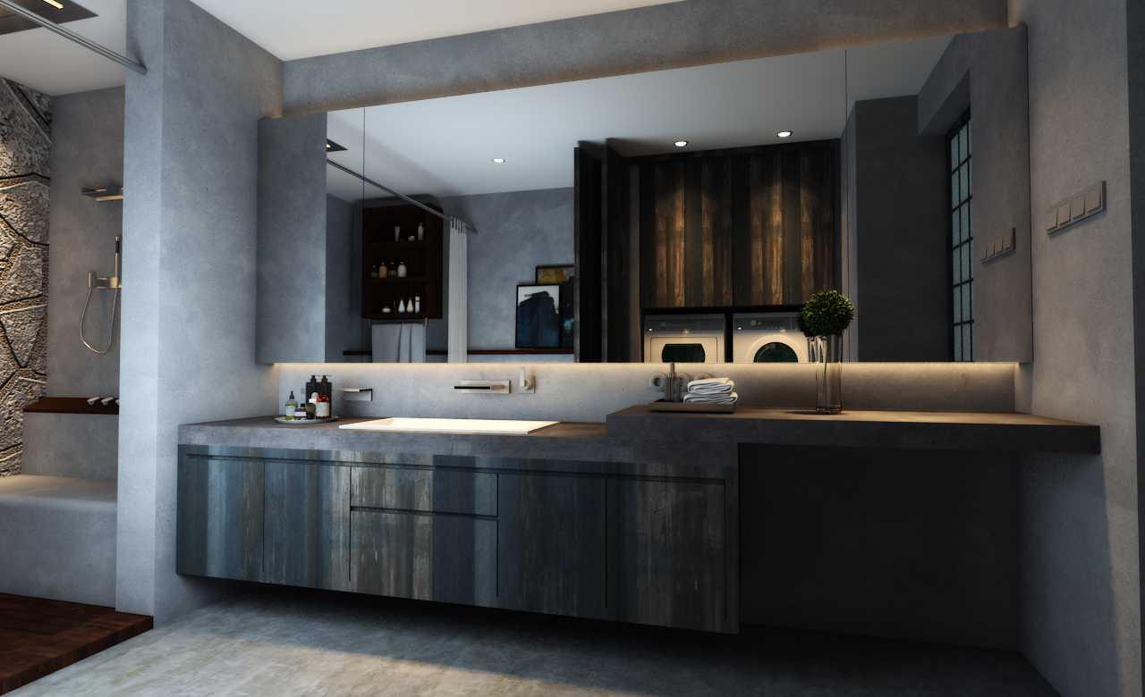 Foto inspirasi ide desain apartemen industrial Bathroom oleh Juan Albert di Arsitag
