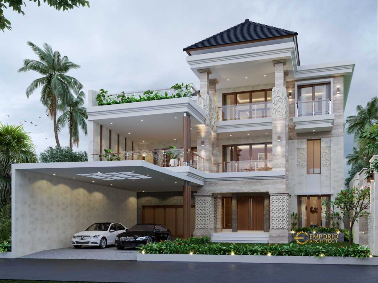 Emporio Architect Jasa Arsitek Makassar Desain Rumah Villa Bali 3 Lantai 679 @ Makassar Makassar, Kota Makassar, Sulawesi Selatan, Indonesia Makassar, Kota Makassar, Sulawesi Selatan, Indonesia Emporio-Architect-Jasa-Arsitek-Makassar-Desain-Rumah-Villa-Bali-3-Lantai-679-Makassar Tropical 89527