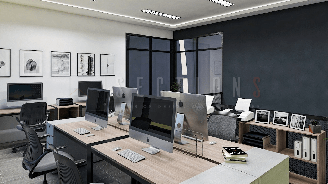 Sections Design & Architecture Textile Company Office Project (Office & Working Area) Tangerang, Kota Tangerang, Banten, Indonesia Tangerang, Kota Tangerang, Banten, Indonesia Sections-Design-Architecture-Contemporary-Lobby-Minimalist-Workspace  92286