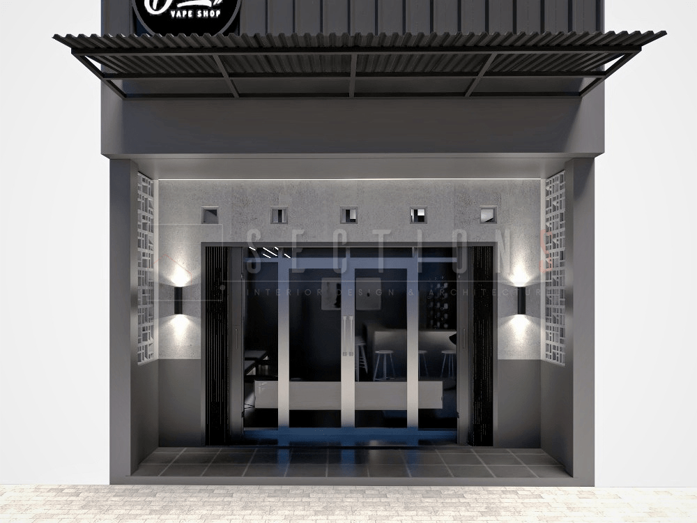 Sections Design & Architecture Industrial Vape Store Project ( Mr Irvan) Gembor, Kec. Periuk, Kota Tangerang, Banten, Indonesia Gembor, Kec. Periuk, Kota Tangerang, Banten, Indonesia Sections-Design-Architecture-Vape-Shop  92202