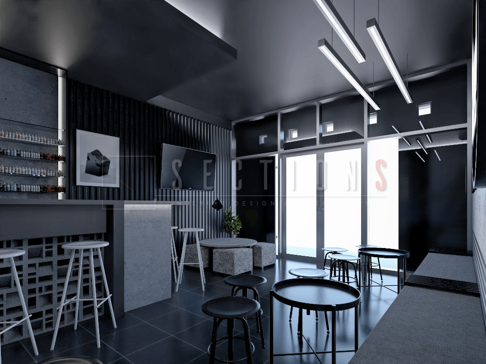 Sections Design & Architecture Industrial Vape Store Project ( Mr Irvan) Gembor, Kec. Periuk, Kota Tangerang, Banten, Indonesia Gembor, Kec. Periuk, Kota Tangerang, Banten, Indonesia Sections-Design-Architecture-Vape-Shop  92206