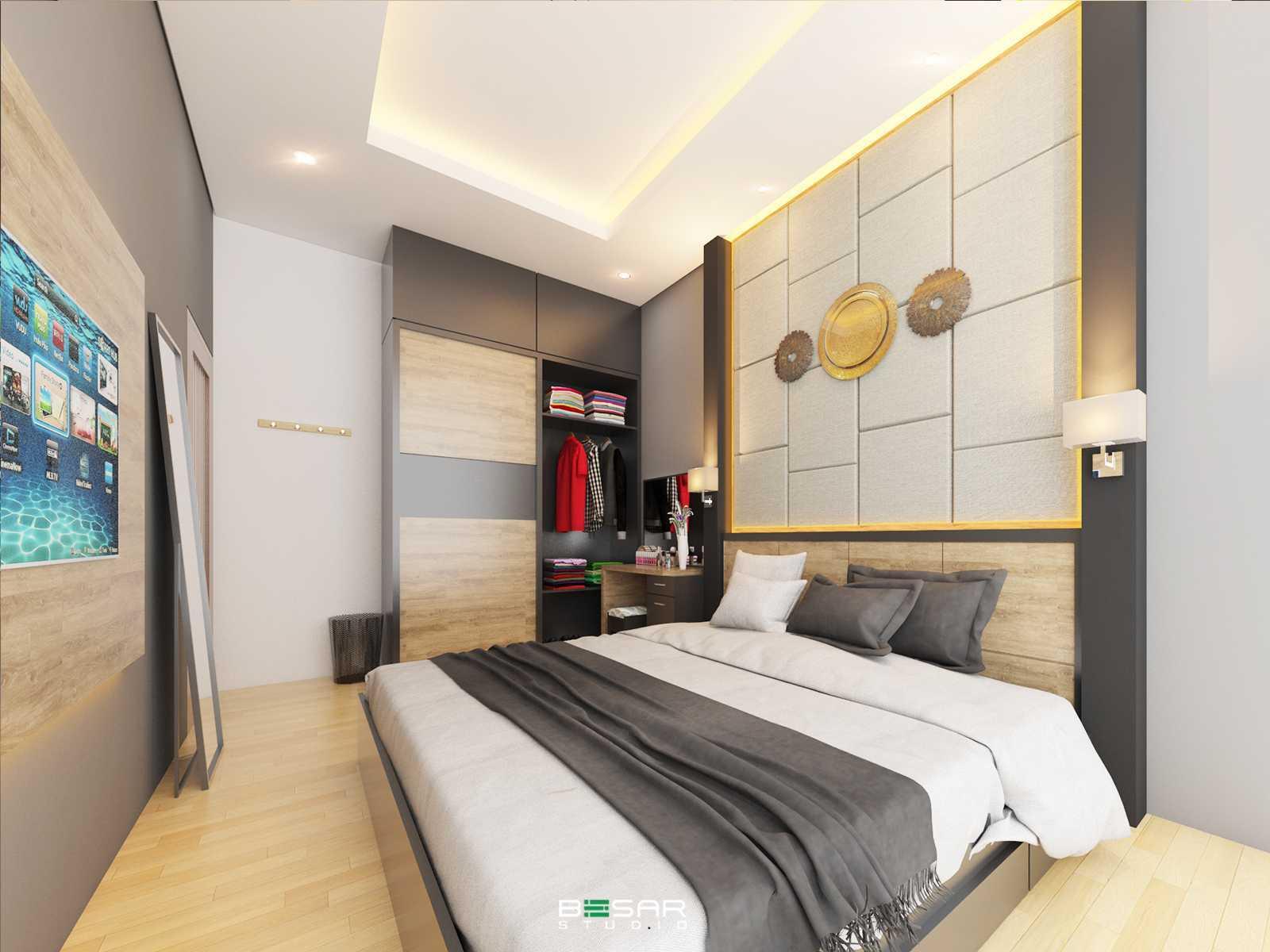 Studio Besar R-House, Cikarang Cikarang Utara, Bekasi, Jawa Barat, Indonesia Cikarang Utara, Bekasi, Jawa Barat, Indonesia Kamar Utama Contemporary 60035