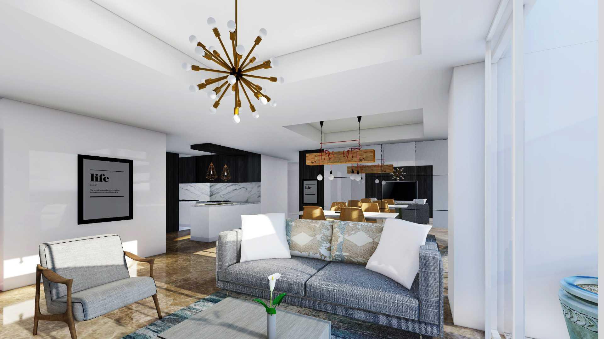Foto inspirasi ide desain apartemen industrial Rinto-katili-apartment-di-jakarta-utara oleh Rinto Katili di Arsitag