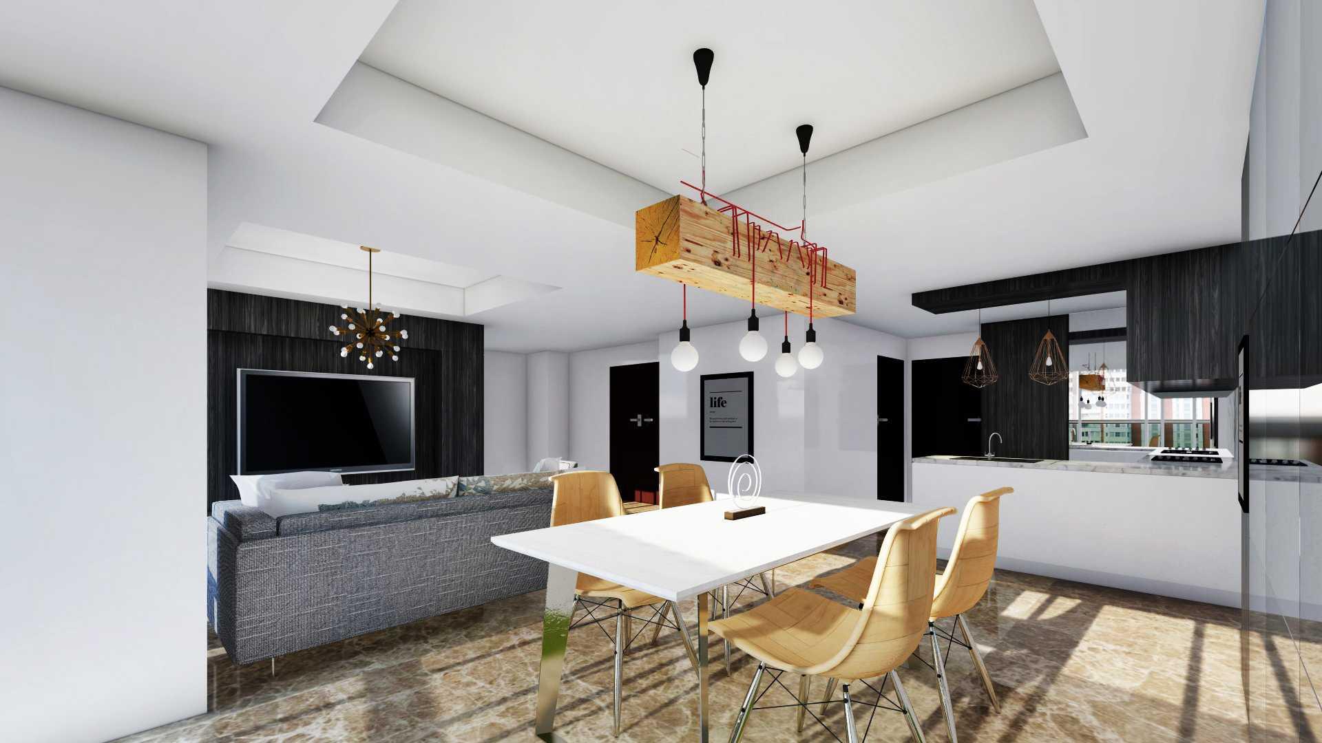 Foto inspirasi ide desain ruang makan industrial Rinto-katili-apartment-di-jakarta-utara oleh Rinto Katili di Arsitag