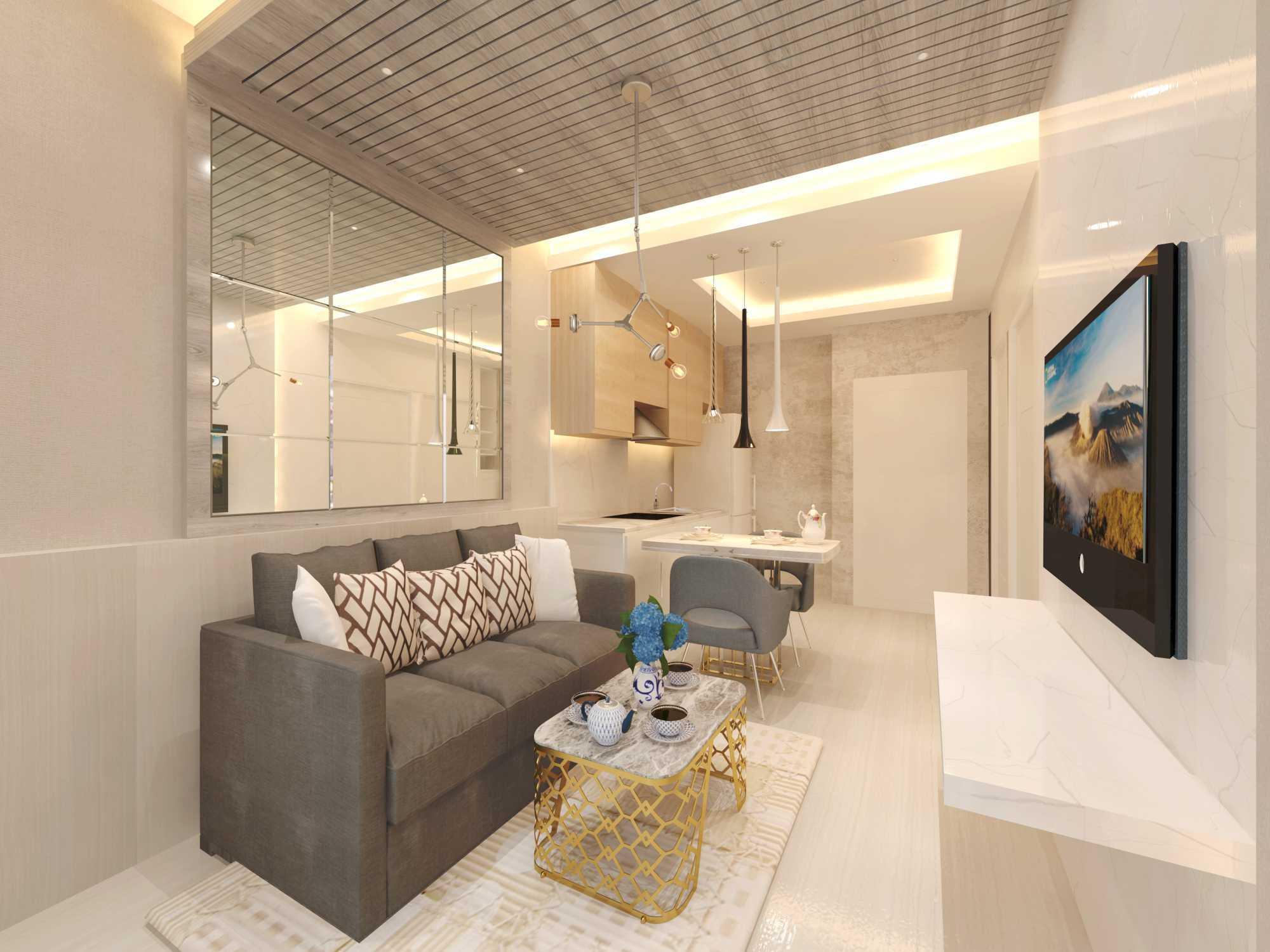 Foto inspirasi ide desain apartemen Rinto-katili-apartment-bapak-robert-tower-heliconia-mediterania-jakarta-barat oleh Rinto Katili di Arsitag