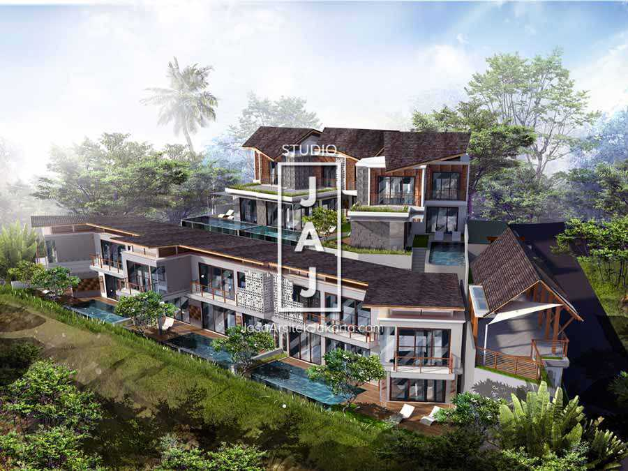 Studio Jaj Jasa Arsitek Bali, Villa Kampi Kuta Selatan, South Kuta, Badung Regency, Bali, Indonesia Kuta Selatan, South Kuta, Badung Regency, Bali, Indonesia Eksterior Villa Kampi Tropical 87502