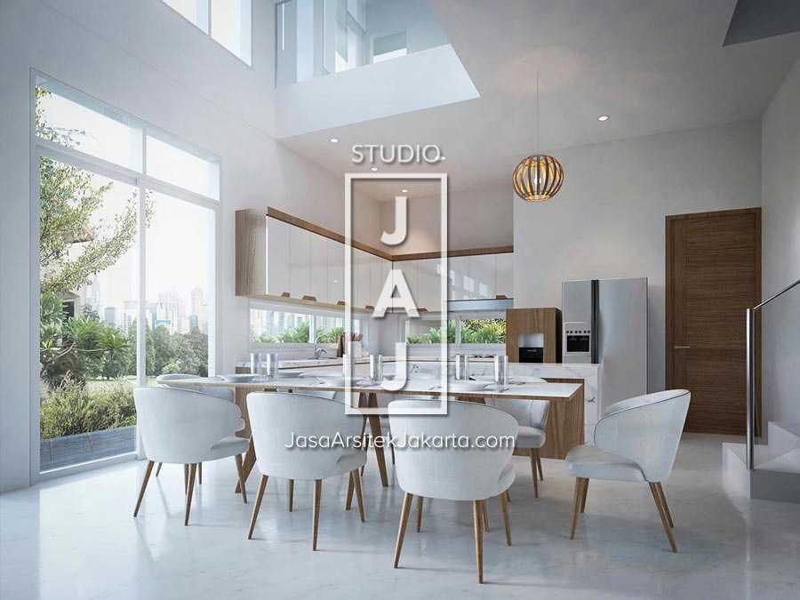 Studio Jaj Jasa Arsitek Jakarta Rumah 4 Lantai Style Modern Jakarta, Daerah Khusus Ibukota Jakarta, Indonesia Jakarta, Daerah Khusus Ibukota Jakarta, Indonesia Interior Ruang Makan  88253