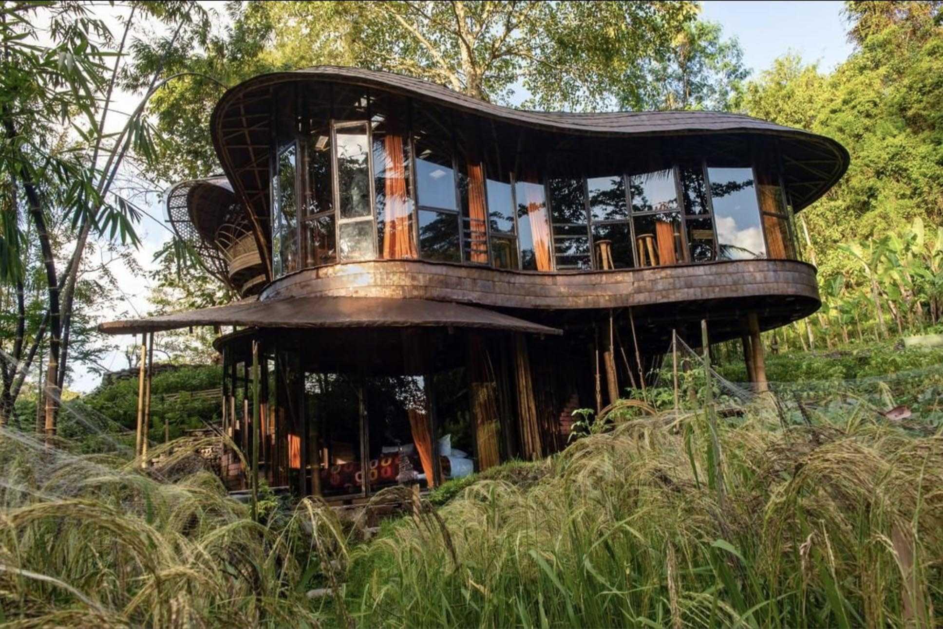Agung Budi Raharsa | Architecture & Engineering Riverbend Bamboo House - Bali Bali, Indonesia Bali, Indonesia Front View Tropical 88703