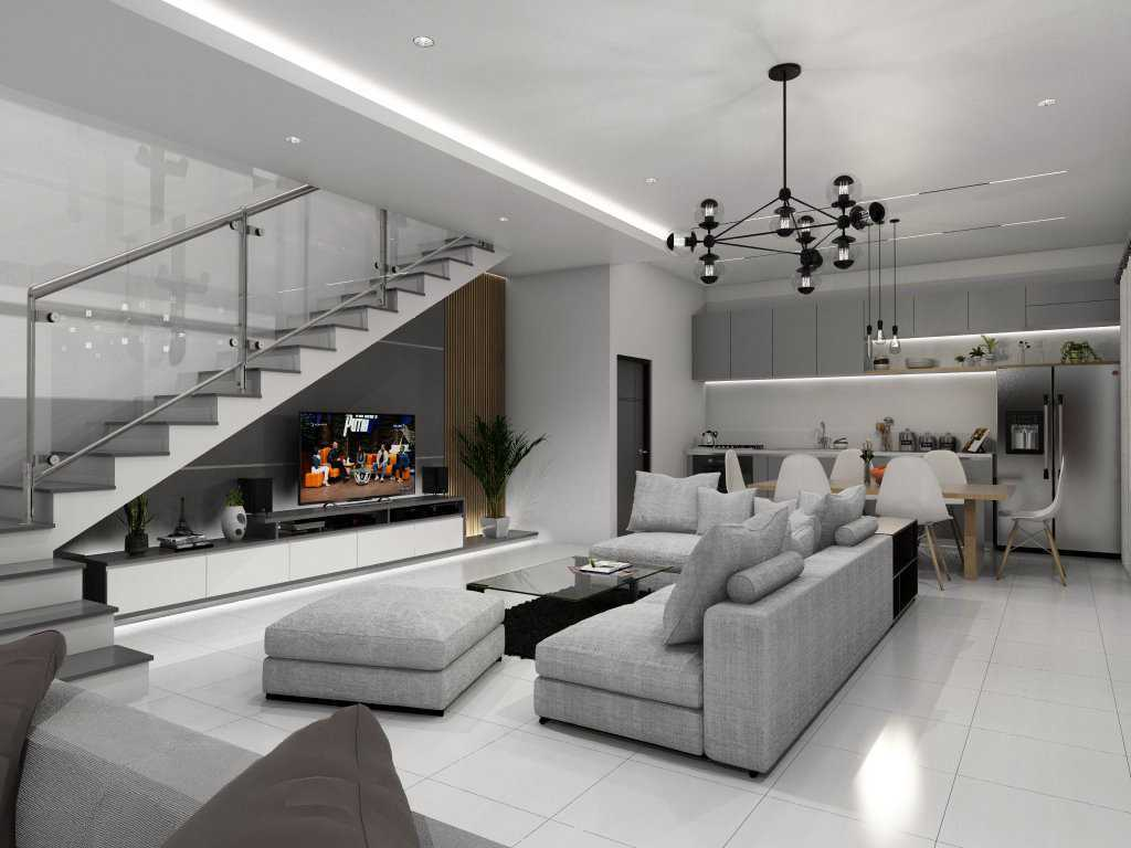 Project Living Room Interior Desain Arsitek Oleh Al Arsitag