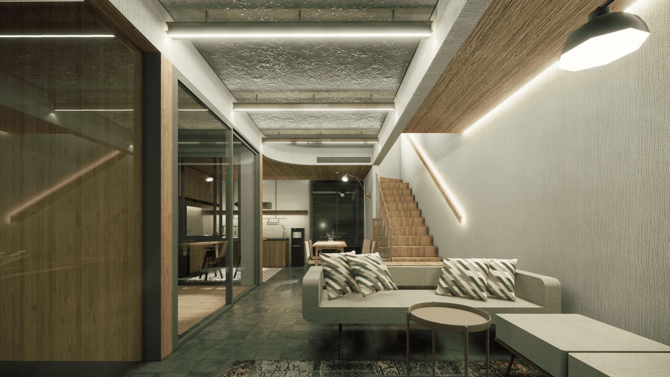 Foto inspirasi ide desain ruang keluarga asian Atelier-anima-rumasetu-interior oleh Atelier Anima di Arsitag