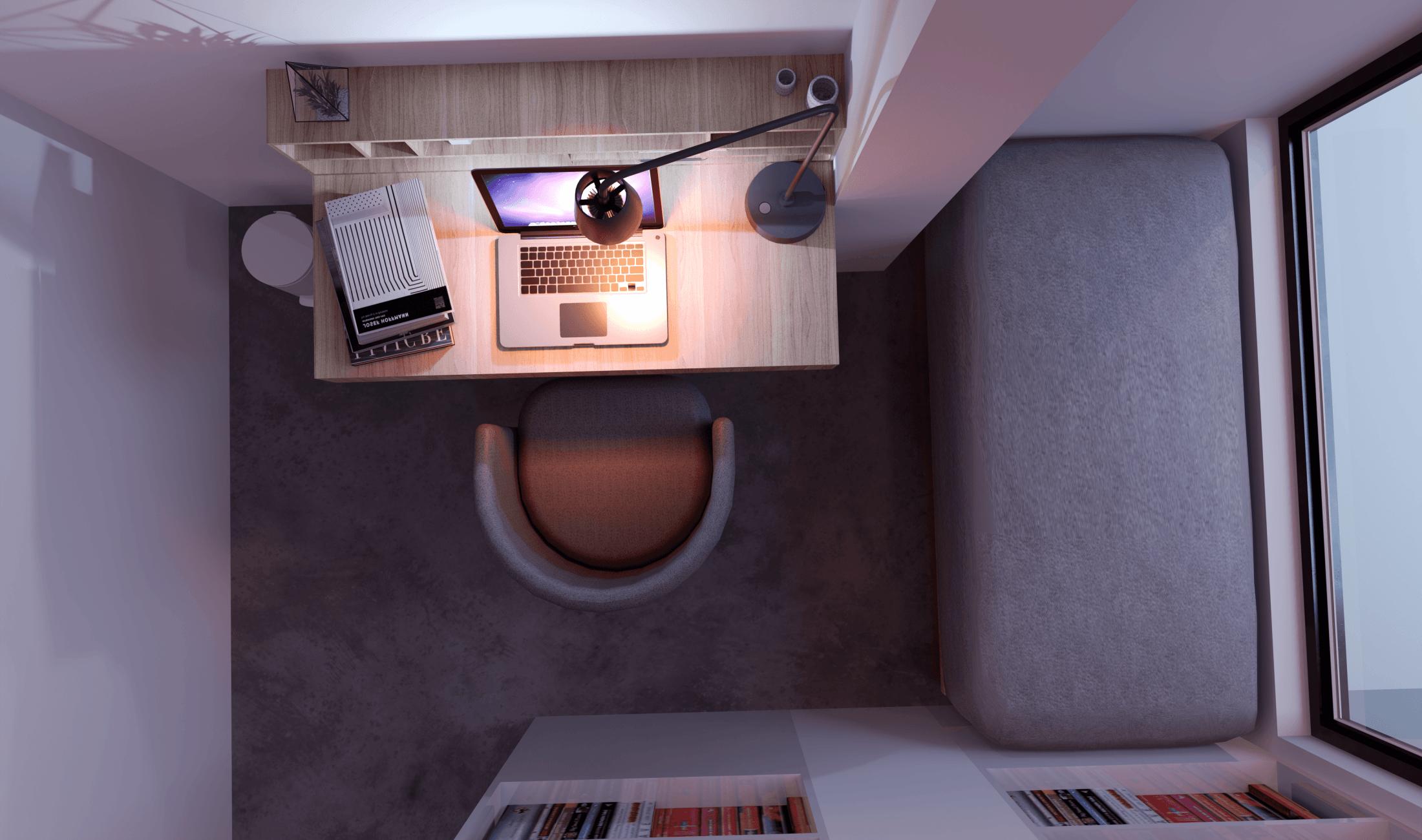 Foto inspirasi ide desain perpustakaan industrial Fahman-salim-rumah-dan-coffe-shop-tn-emon oleh Fahman Salim di Arsitag