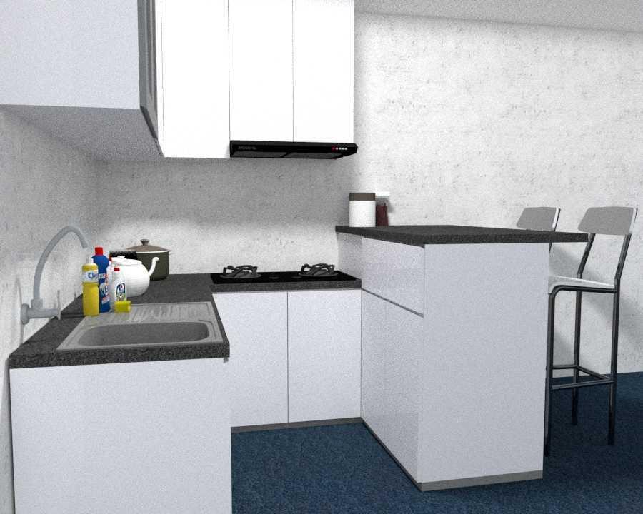project kitchen set  mini bar desain arsitek oleh tania