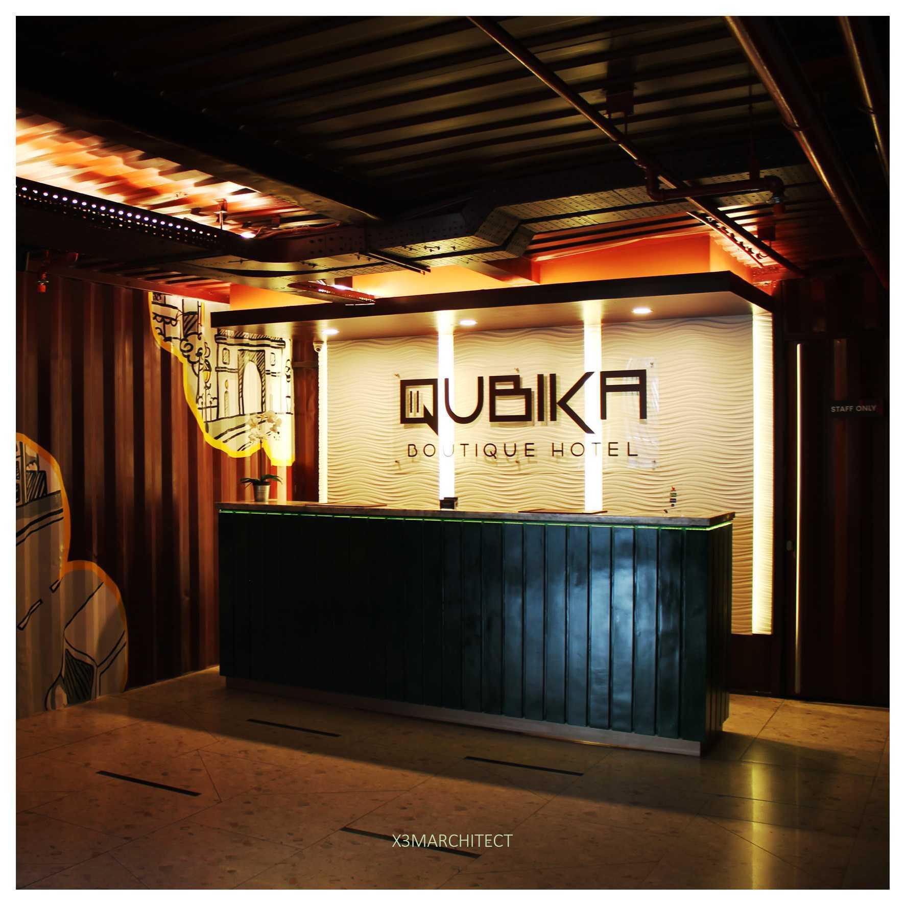 Foto inspirasi ide desain lobby industrial X3m-architects-qubika-hotel oleh X3M ARCHITECTS di Arsitag