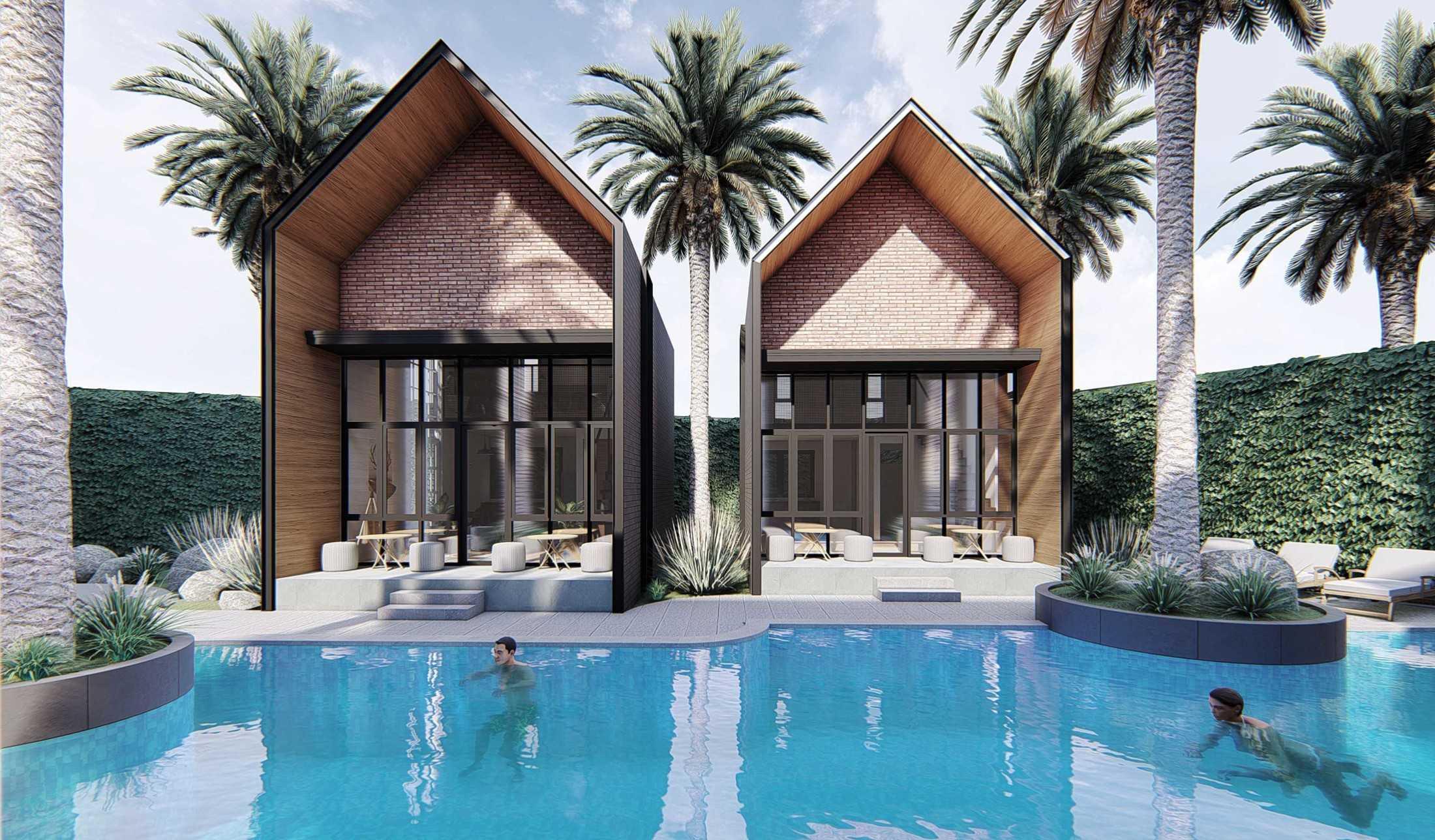 Foto inspirasi ide desain kolam industrial Tipe 1 br oleh MahaStudio & Partner di Arsitag
