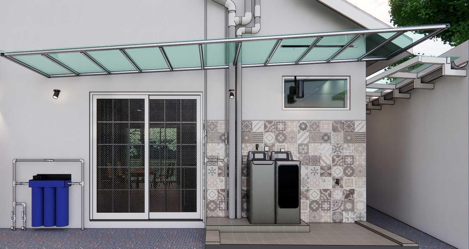 Gfs Architect T&d House Semarang, Jawa Tengah, Indonesia Semarang, Jawa Tengah, Indonesia T&d 3D Area Cuci & Jemur Industrial 108741