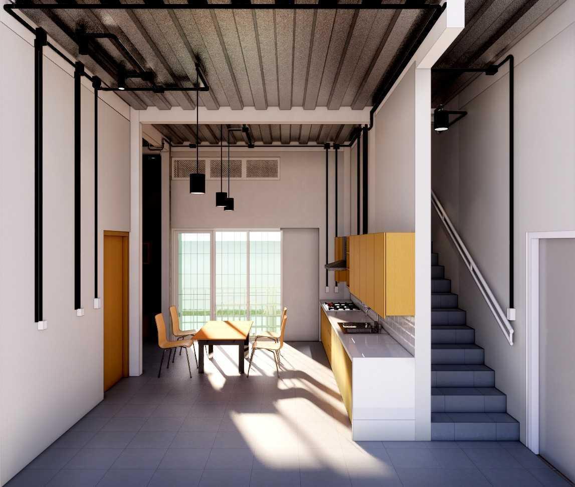 Gfs Architect T&d House Semarang, Jawa Tengah, Indonesia Semarang, Jawa Tengah, Indonesia T&d 3D Dapur & Ruang Makan Industrial 108742
