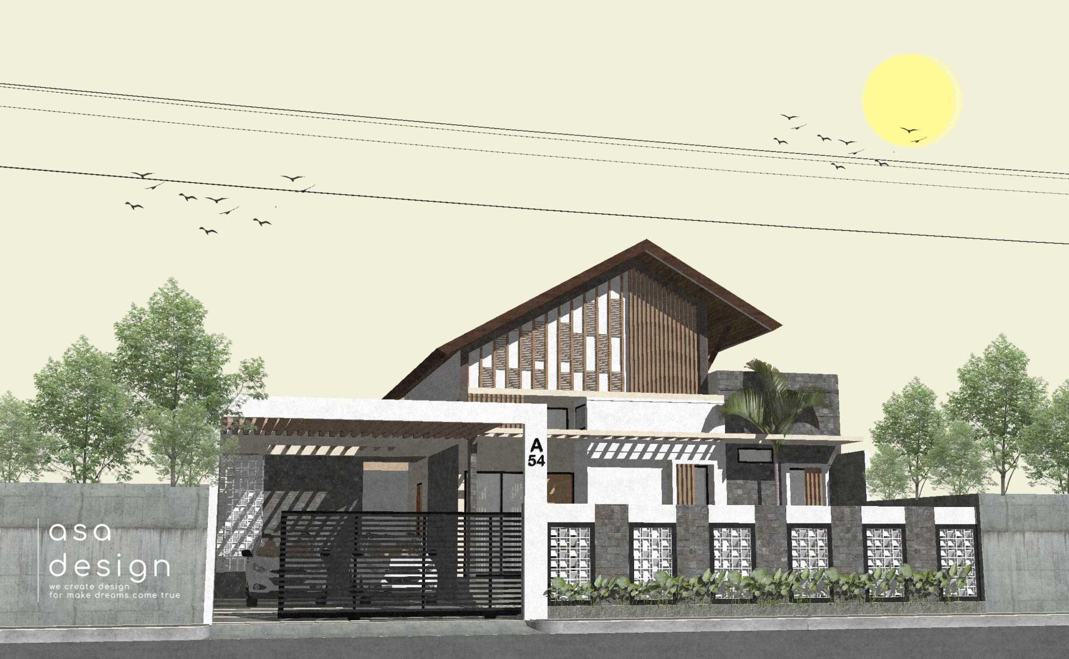 Asa Design Architect Griya Atap Miring Kediri, Jawa Timur, Indonesia Kediri, Jawa Timur, Indonesia Asa-Desain-Arsitek-Griya-Atap-Miring  125320