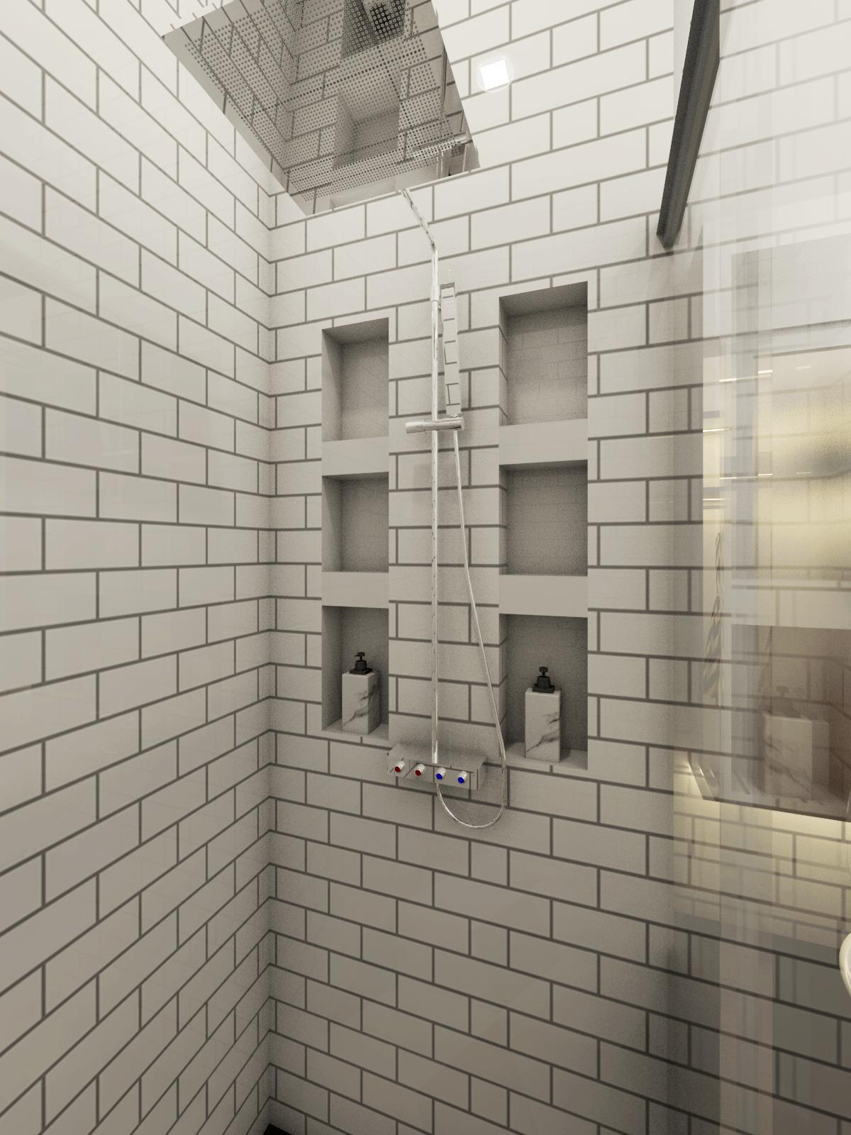 Wai Architect (Pt. Cipta Karya Seni) Mrs. R Bedroom Kota Depok, Jawa Barat, Indonesia Kota Depok, Jawa Barat, Indonesia Bathroom 01  91514