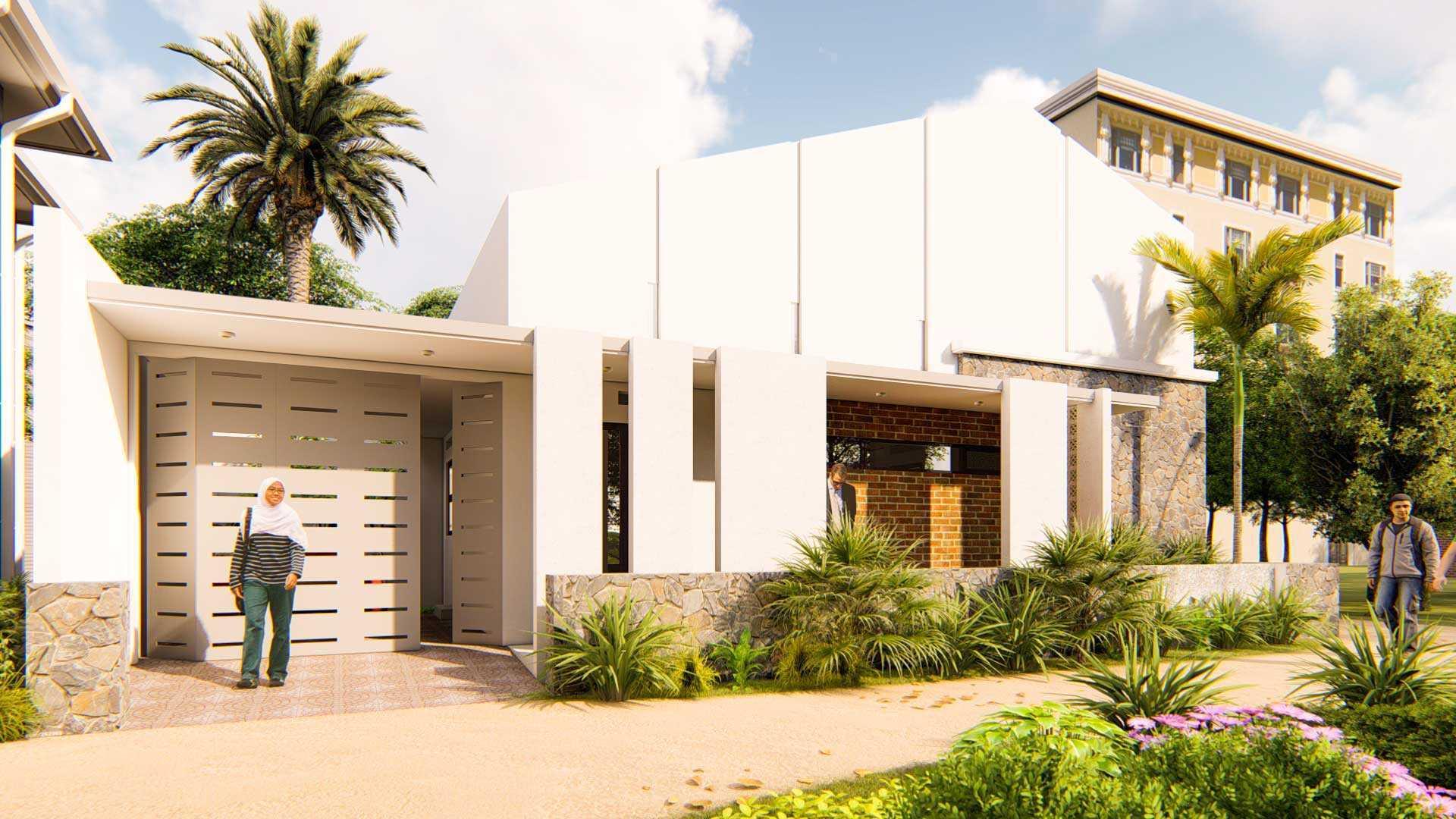Nggambar Omah | Design And Build The Natunacorner Whitehouse Blitar, Kota Blitar, Jawa Timur, Indonesia Blitar, Kota Blitar, Jawa Timur, Indonesia Vizual Siang Hari Contemporary 55702