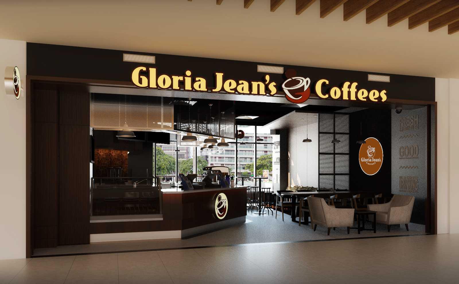 Foto inspirasi ide desain pintu masuk industrial Mbartliving-gloria-jeans-coffee-indonesia oleh MBartliving di Arsitag